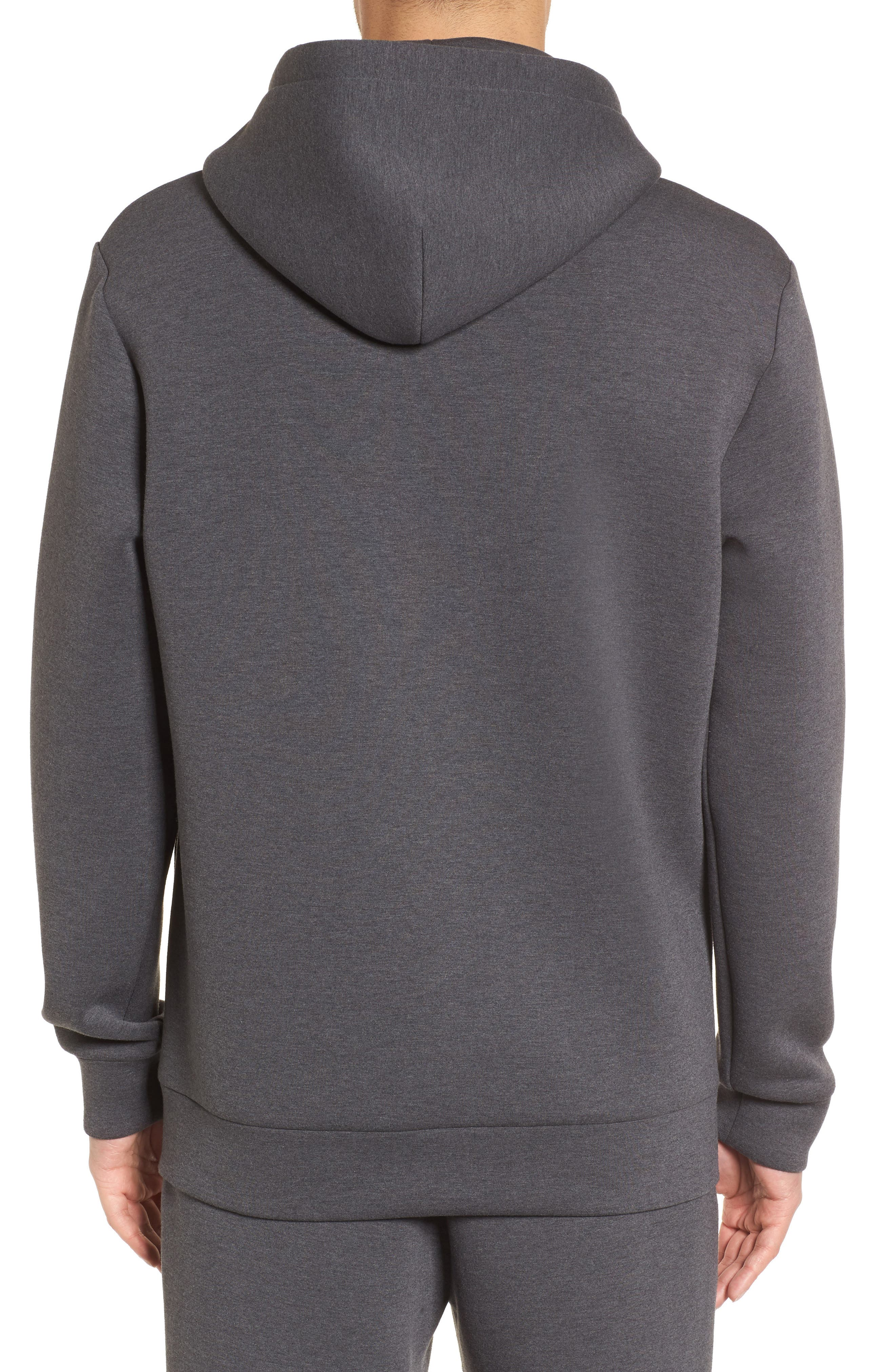 Scuba Pullover Hoodie,                             Alternate thumbnail 2, color,                             Charcoal Heather