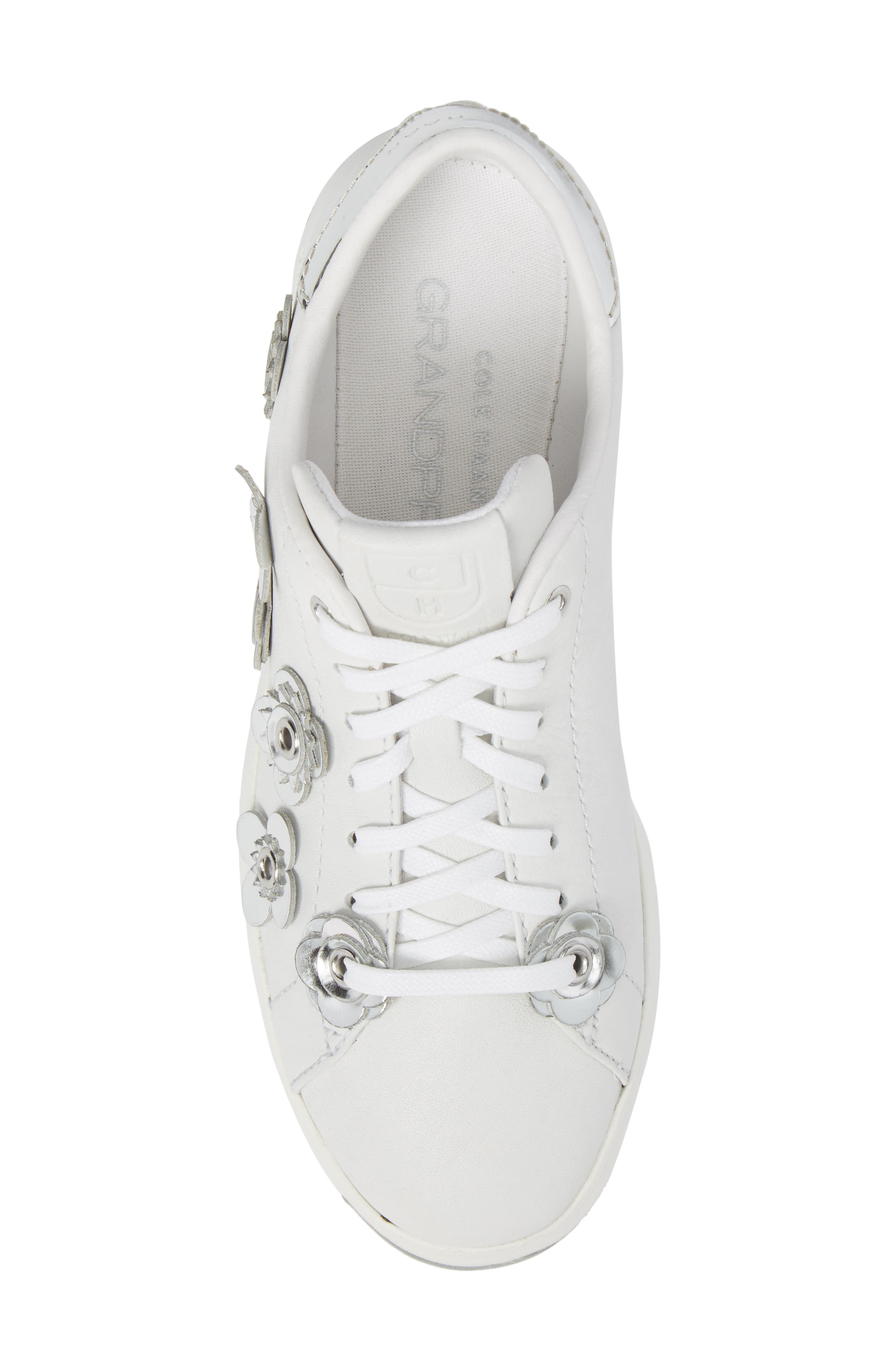 GrandPro Tennis Sneaker,                             Alternate thumbnail 5, color,                             White Leather