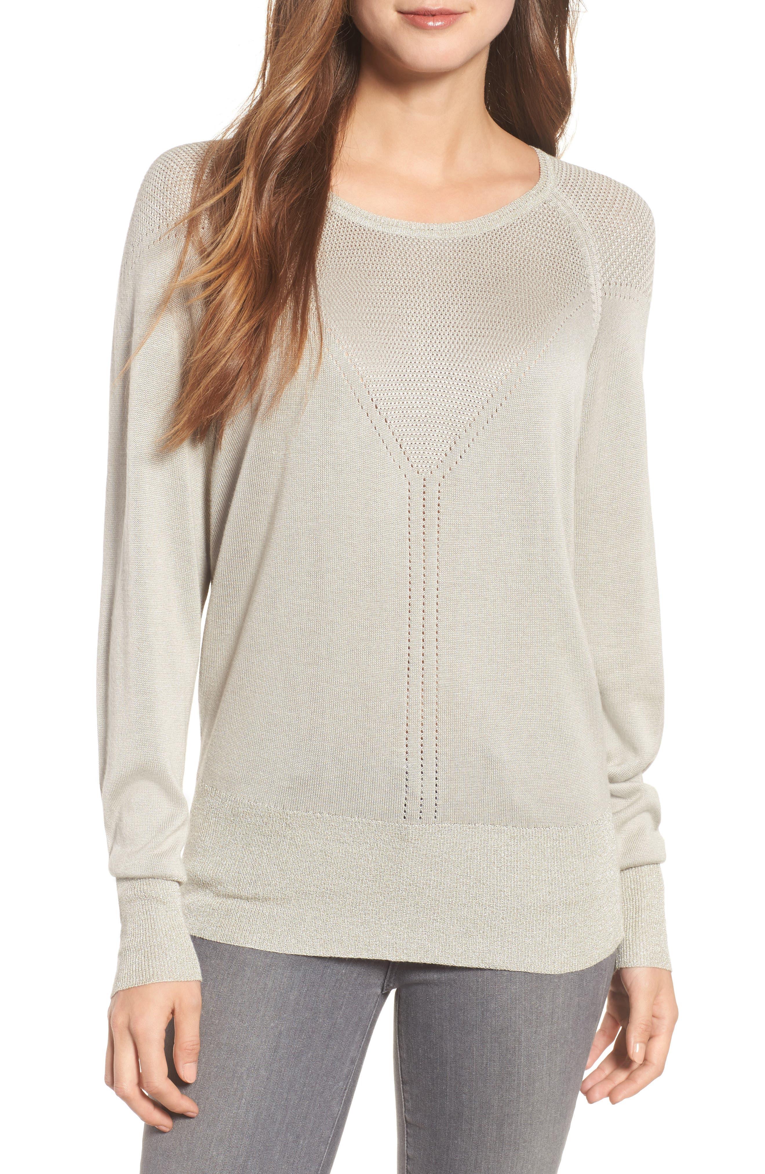 Elisabeth Pullover Sweater,                         Main,                         color, Dove