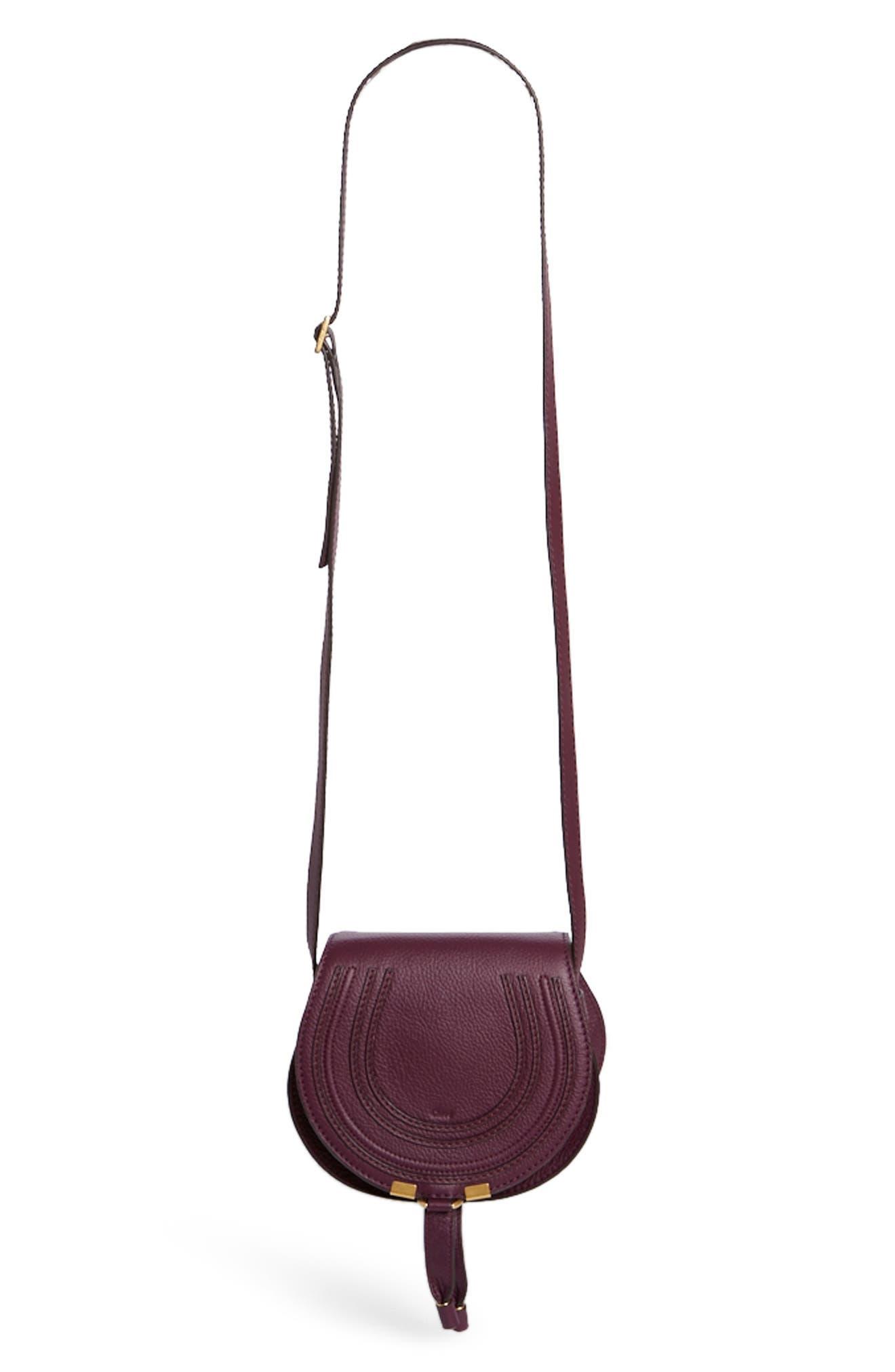 Main Image - Chloé 'Mini Marcie' Leather Crossbody Bag