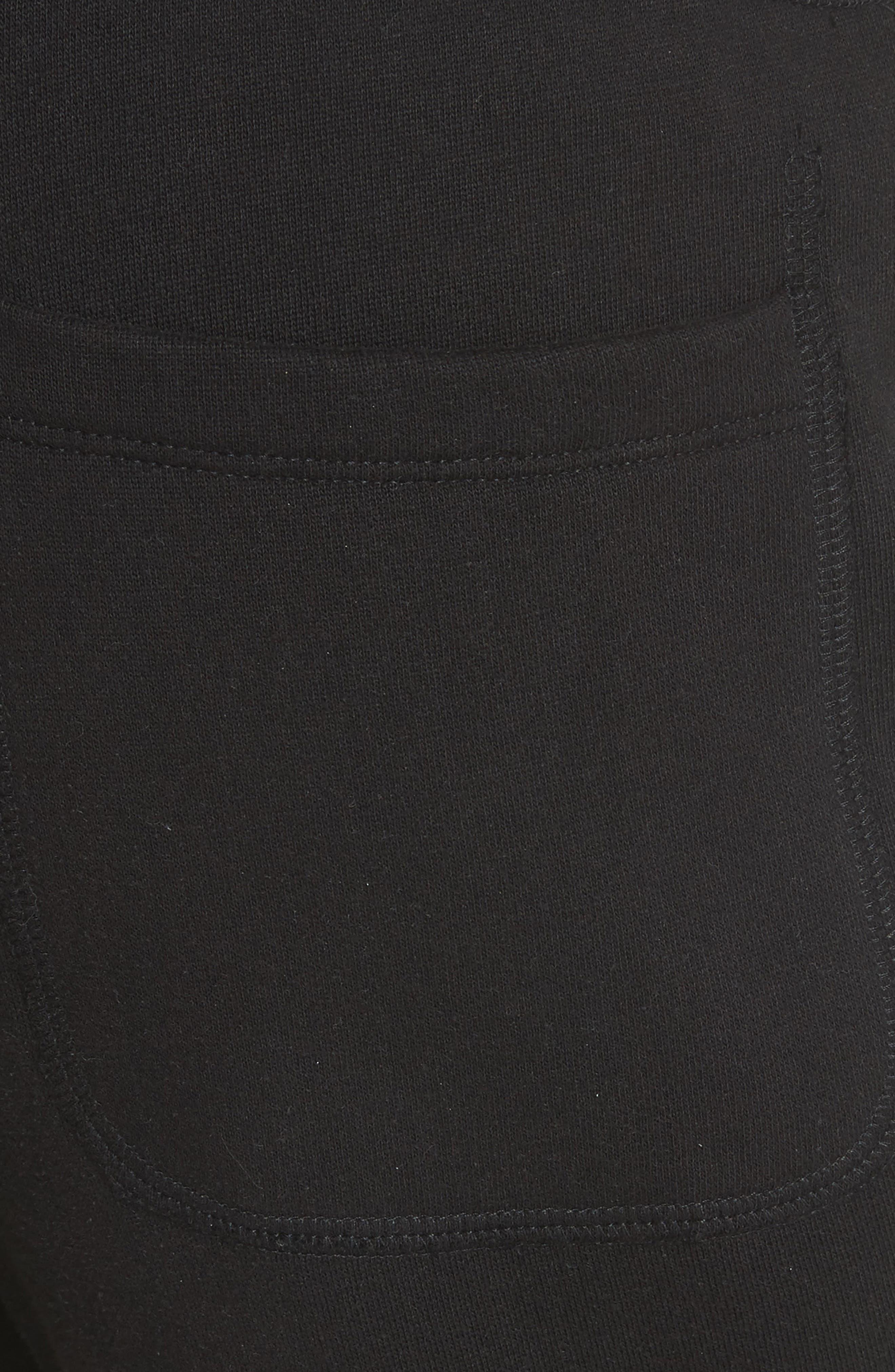 Cotton Blend Jogger Pants,                             Alternate thumbnail 5, color,                             Black