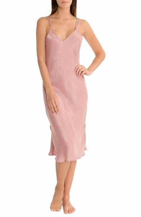 Midnight Bakery Midi Satin Nightgown