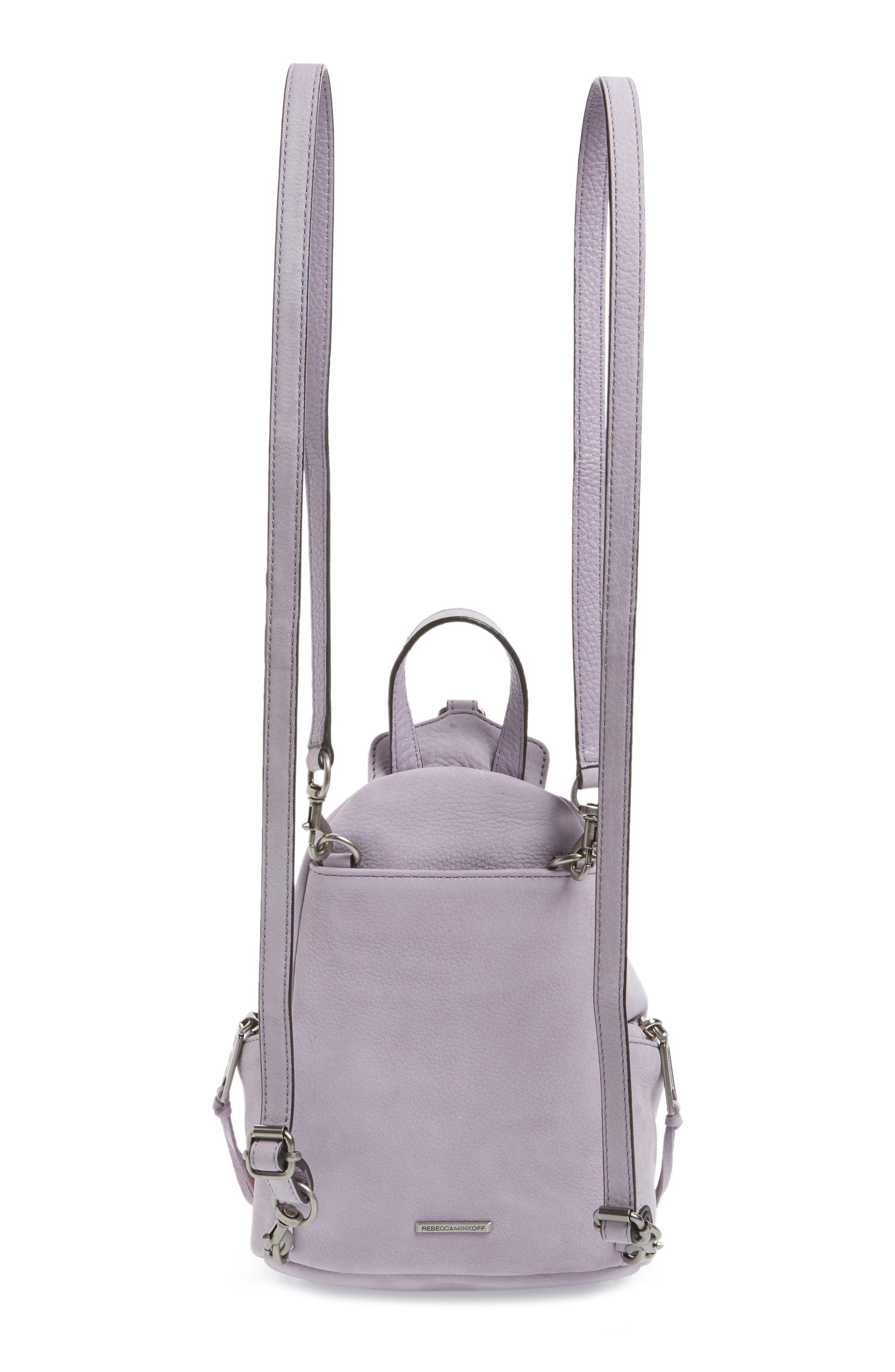 Alternate Image 3  - Rebecca Minkoff Mini Julian Nubuck Leather Convertible Backpack