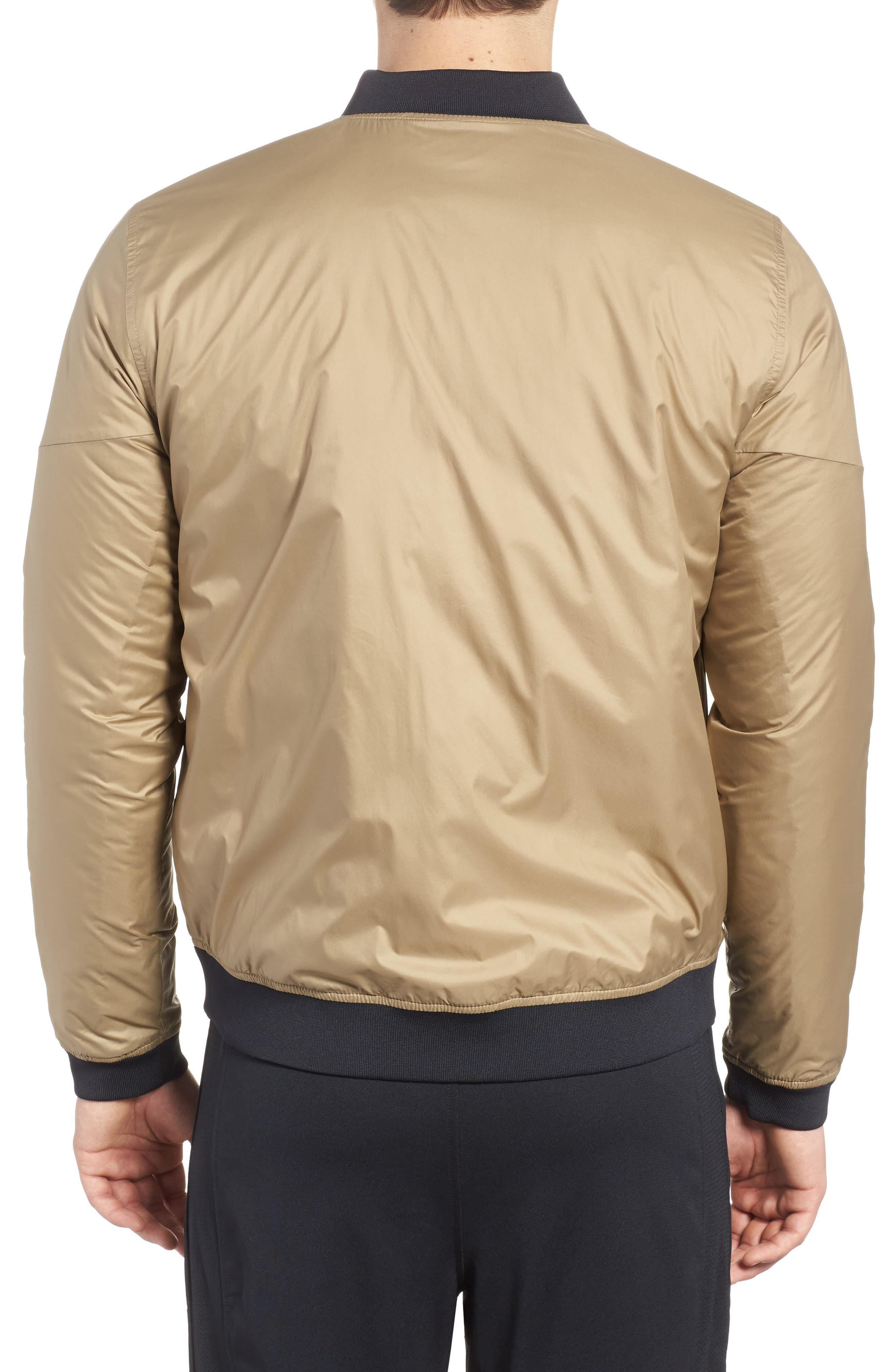 Sportstyle Reactor Reversible Bomber Jacket,                             Alternate thumbnail 2, color,                             Canvas / Bay Brown / Black
