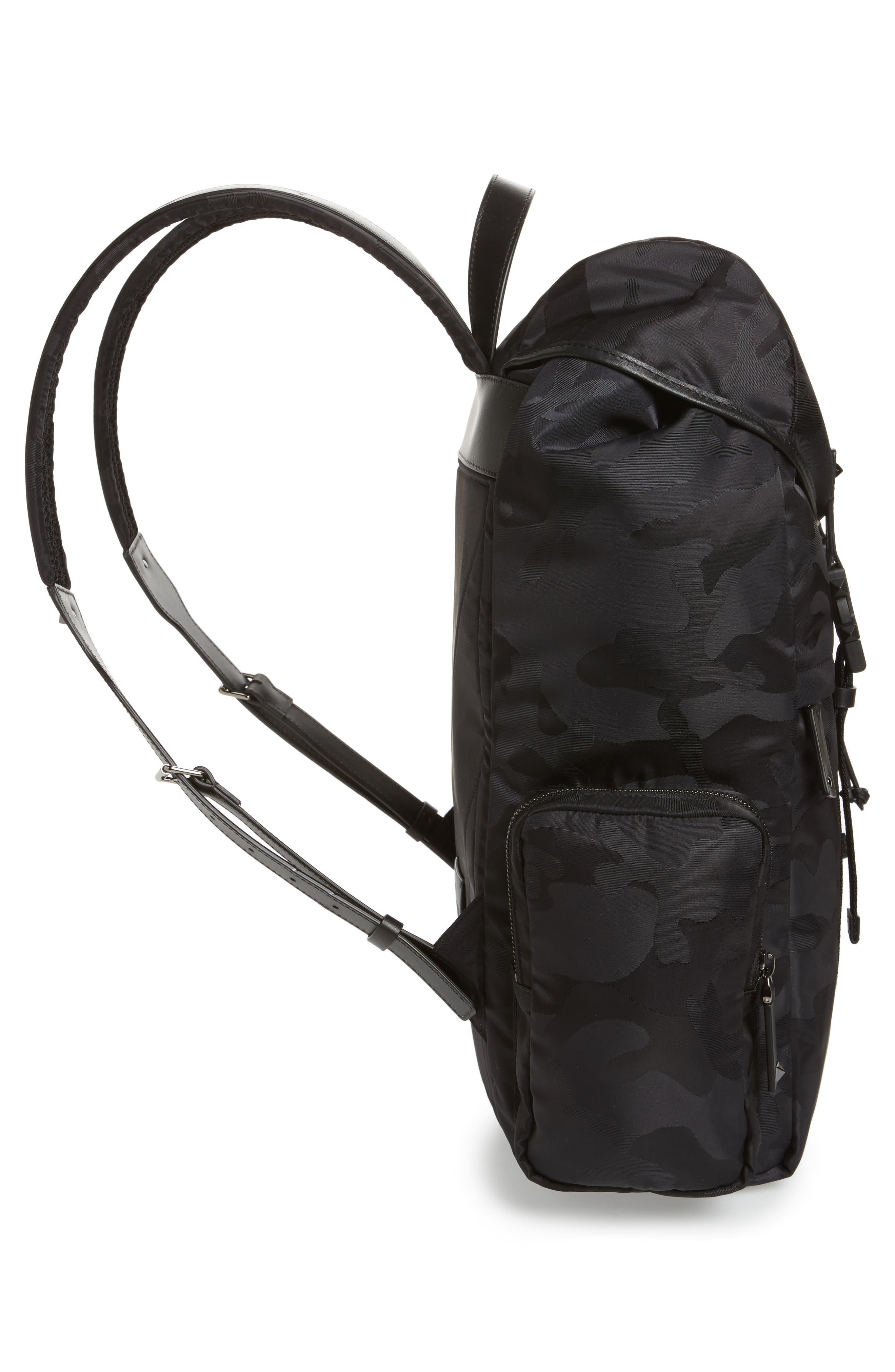 Camo Backpack,                             Alternate thumbnail 5, color,                             Black