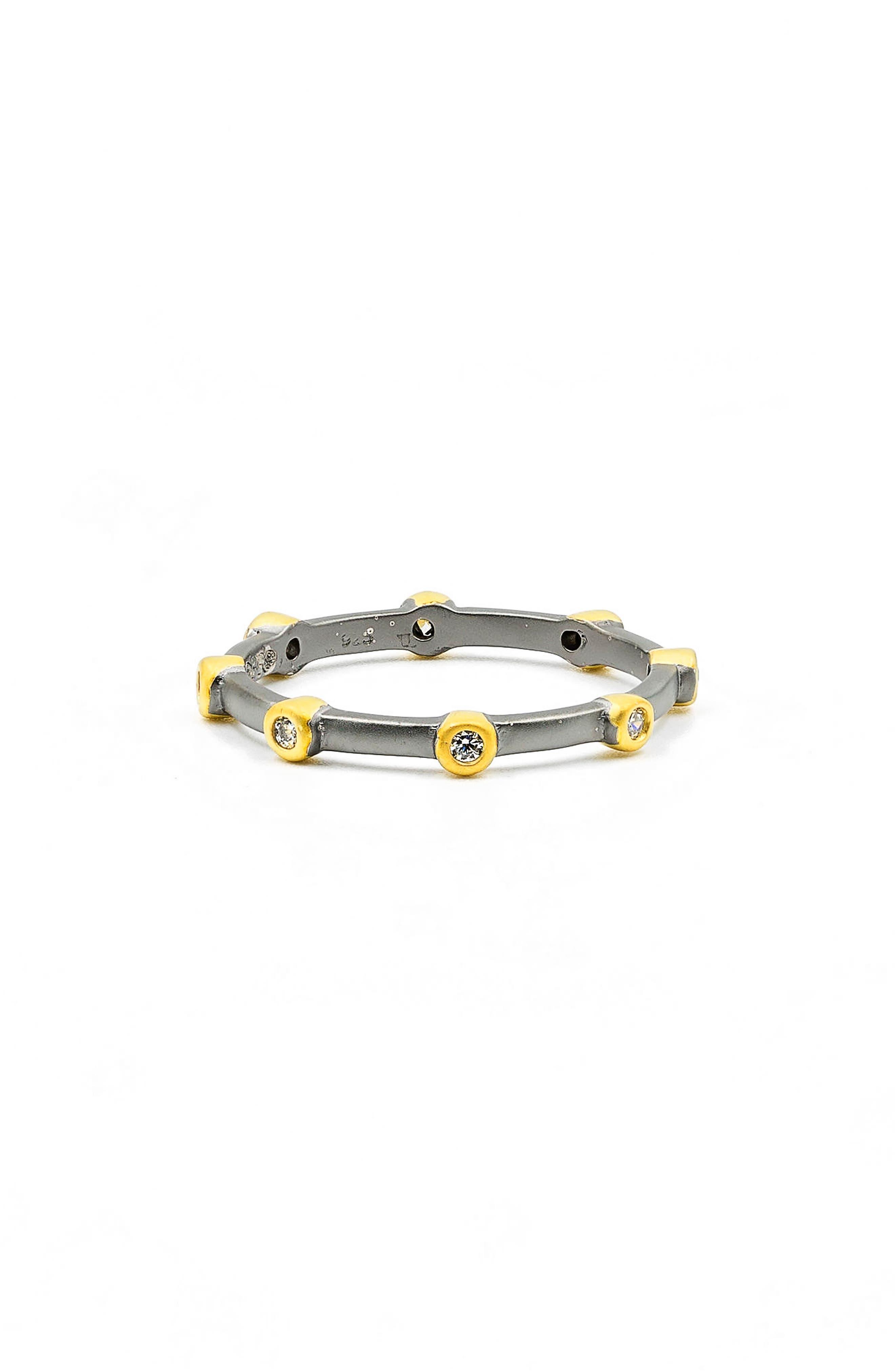 Stackable Ring,                             Main thumbnail 1, color,                             Black/ Gold