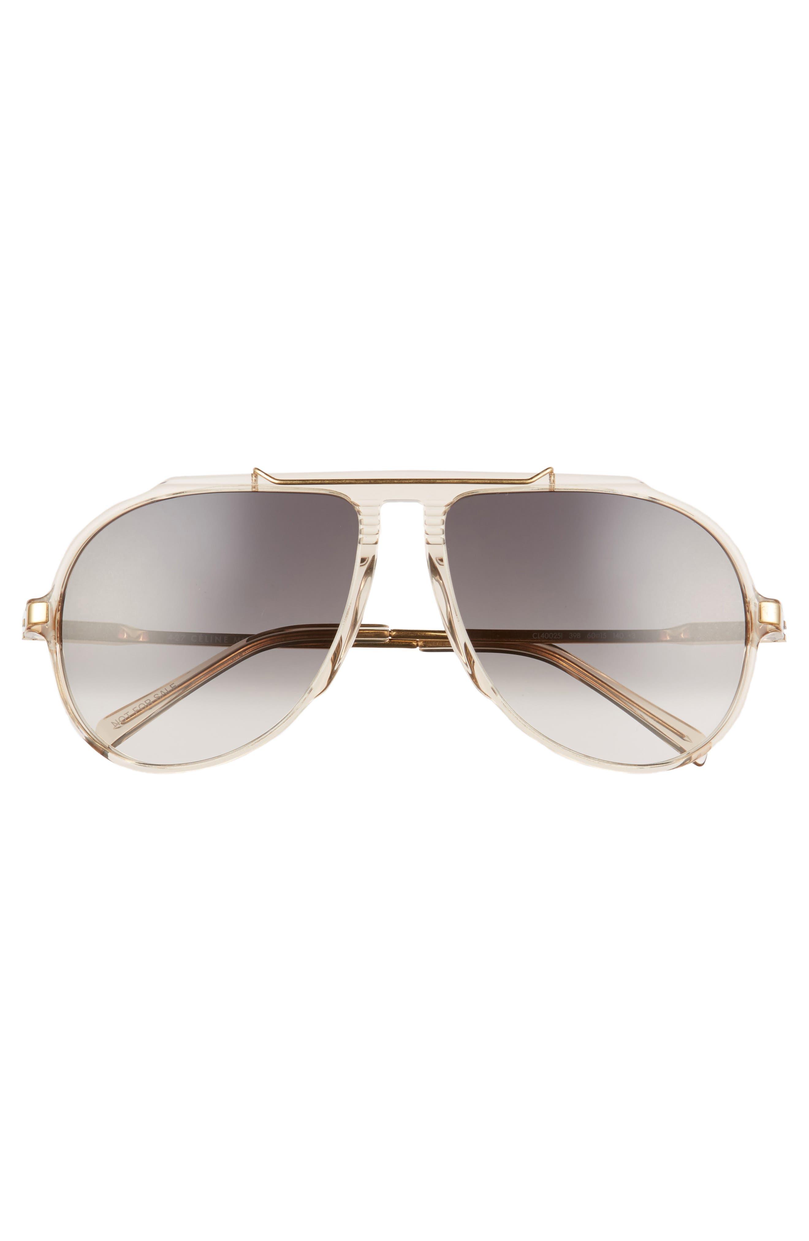 Alternate Image 3  - Céline 60mm Gradient Aviator Sunglasses