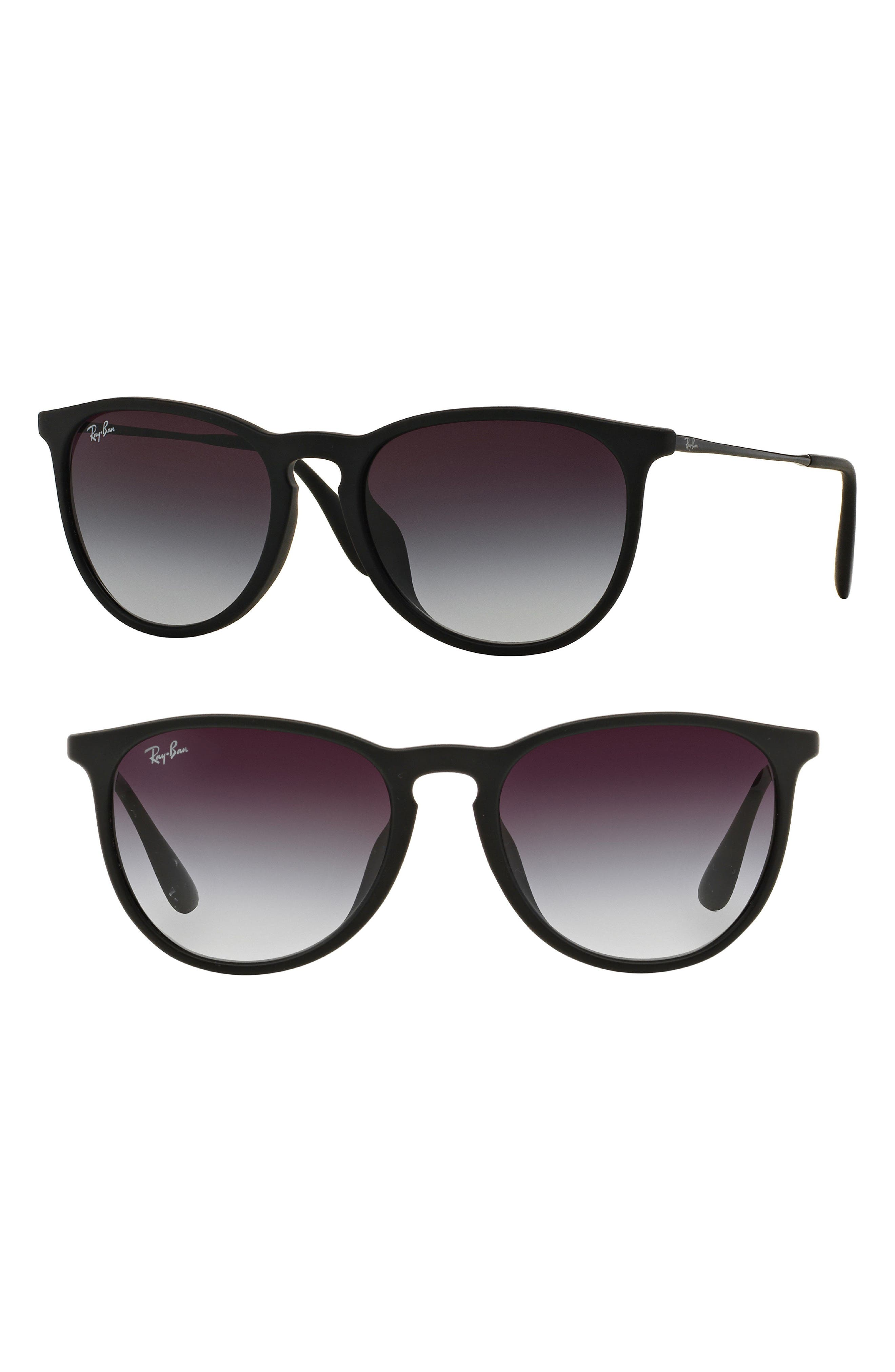 Erika Classic 57mm Sunglasses,                             Main thumbnail 1, color,                             Matte Black