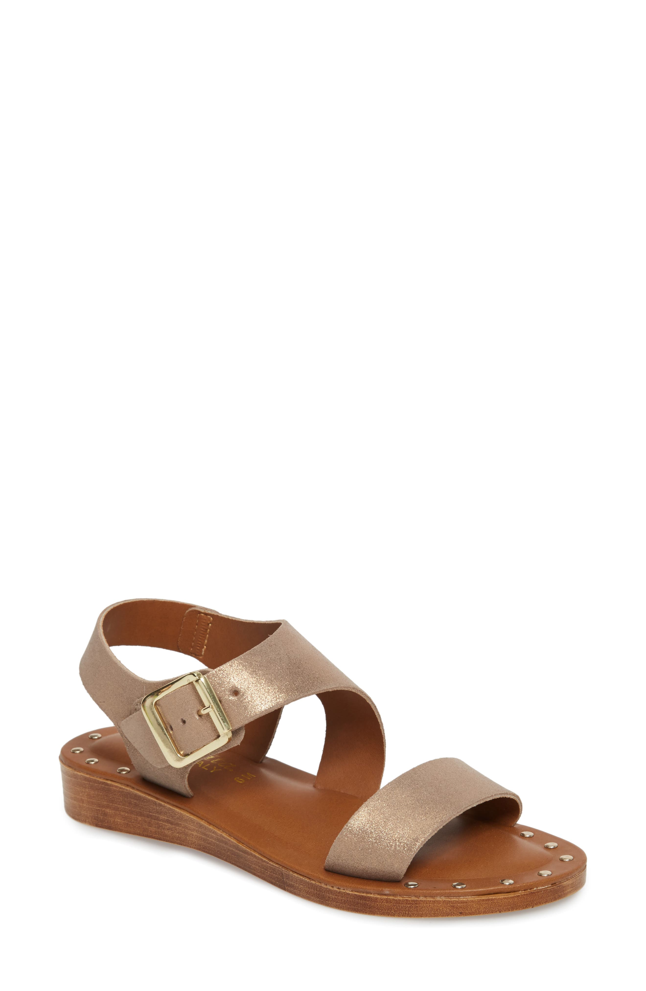 Luc Sandal,                         Main,                         color, Champagne Leather