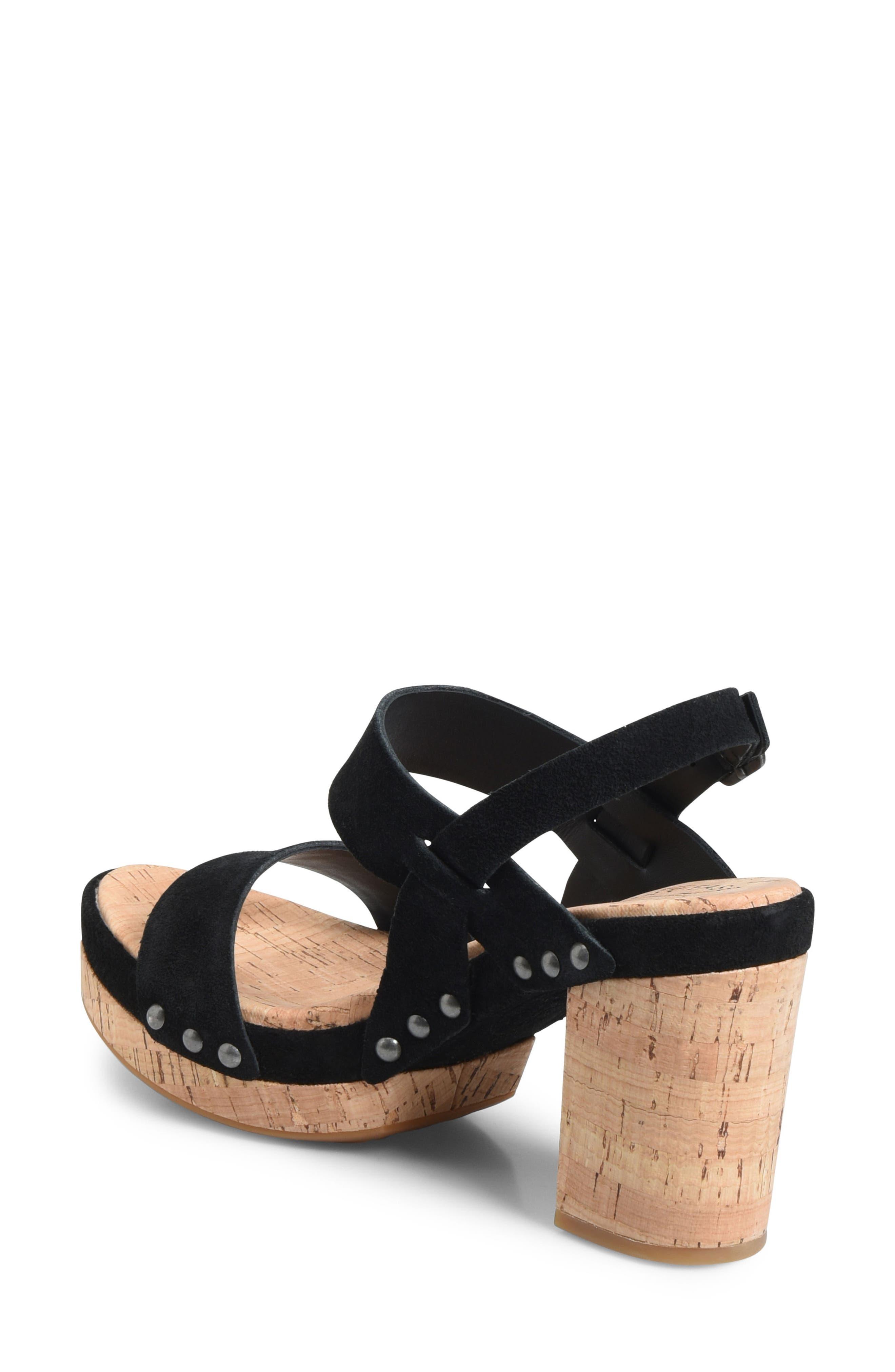 Palmdale Platform Sandal,                             Alternate thumbnail 2, color,                             Black Suede