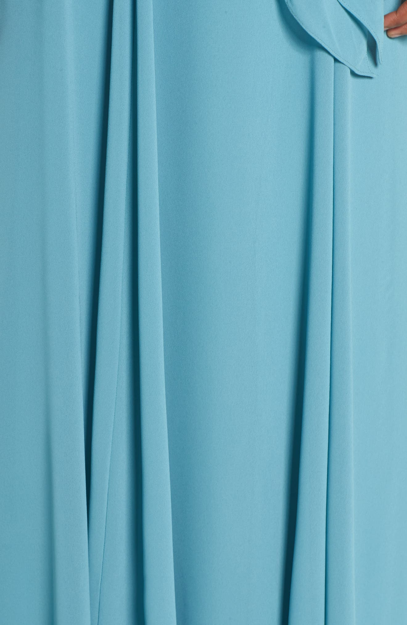 Kyra Chiffon Halter Gown,                             Alternate thumbnail 5, color,                             Teal