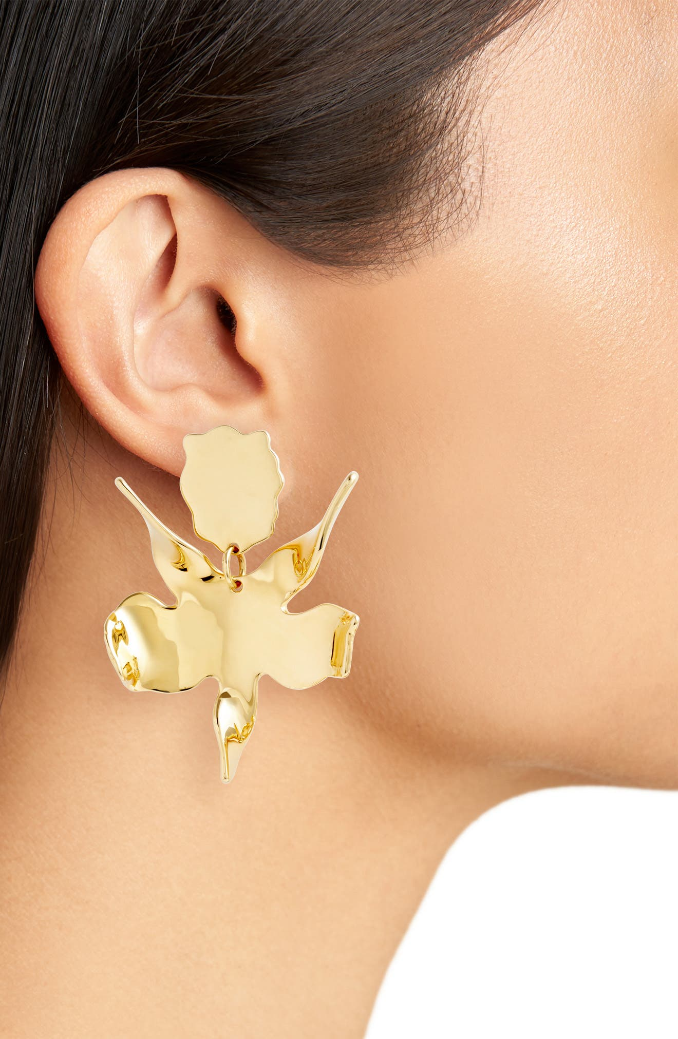 Alternate Image 2  - Lele Sadoughi Golden Lily Drop Earrings
