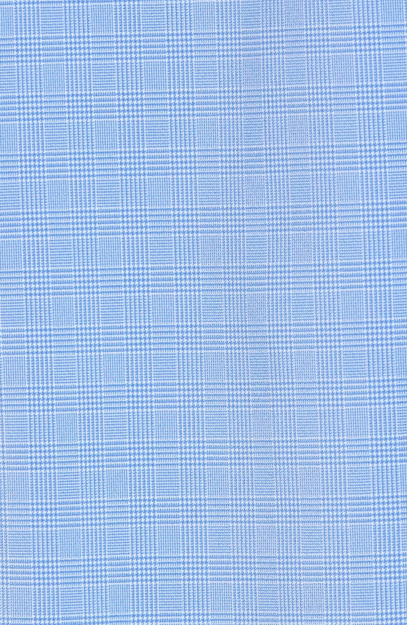 Maverick Slim Fit Plaid Sport Shirt,                             Alternate thumbnail 5, color,                             Blue