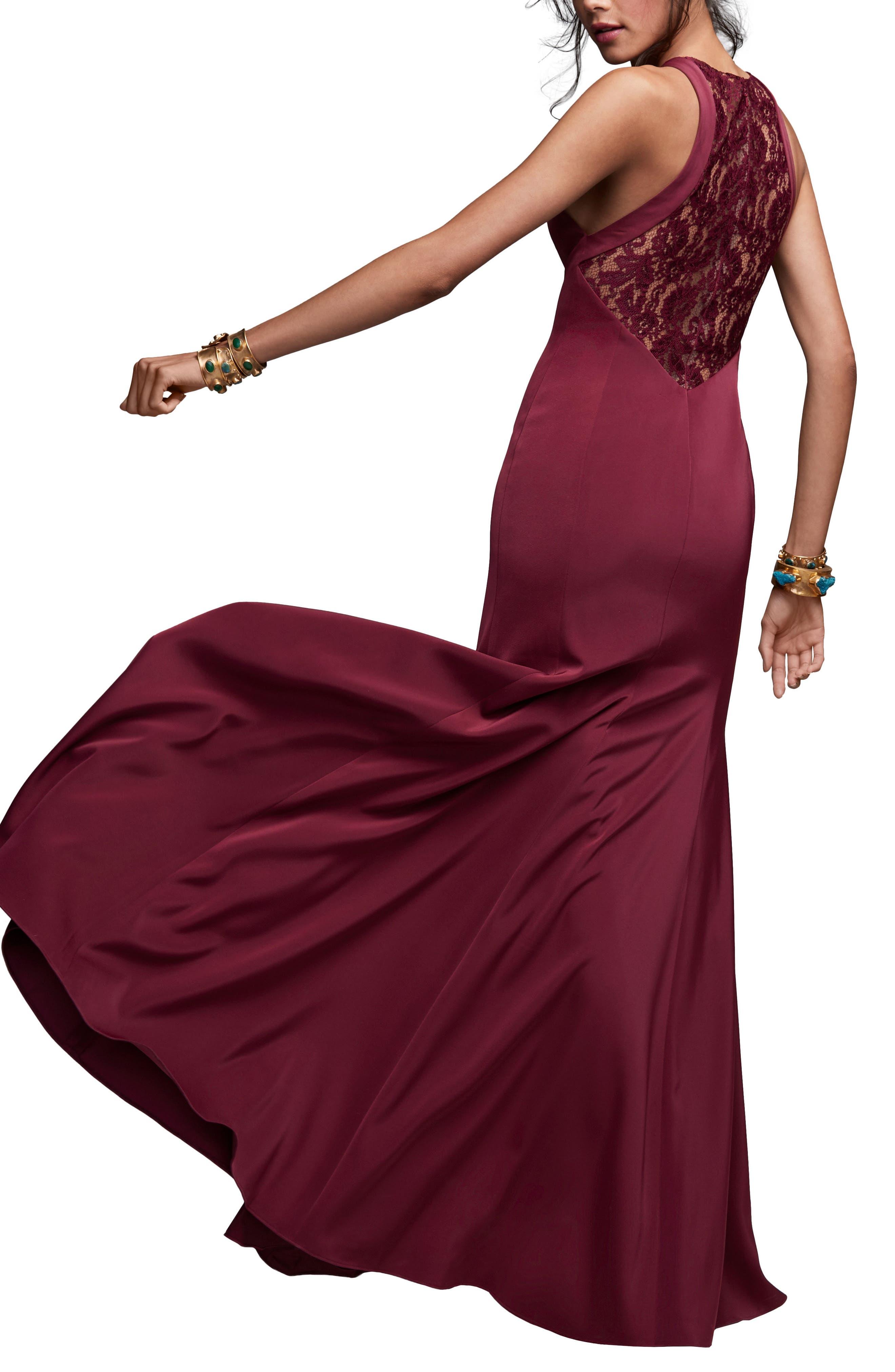 Coralie Lace Back Gown,                             Alternate thumbnail 2, color,                             Luxardo