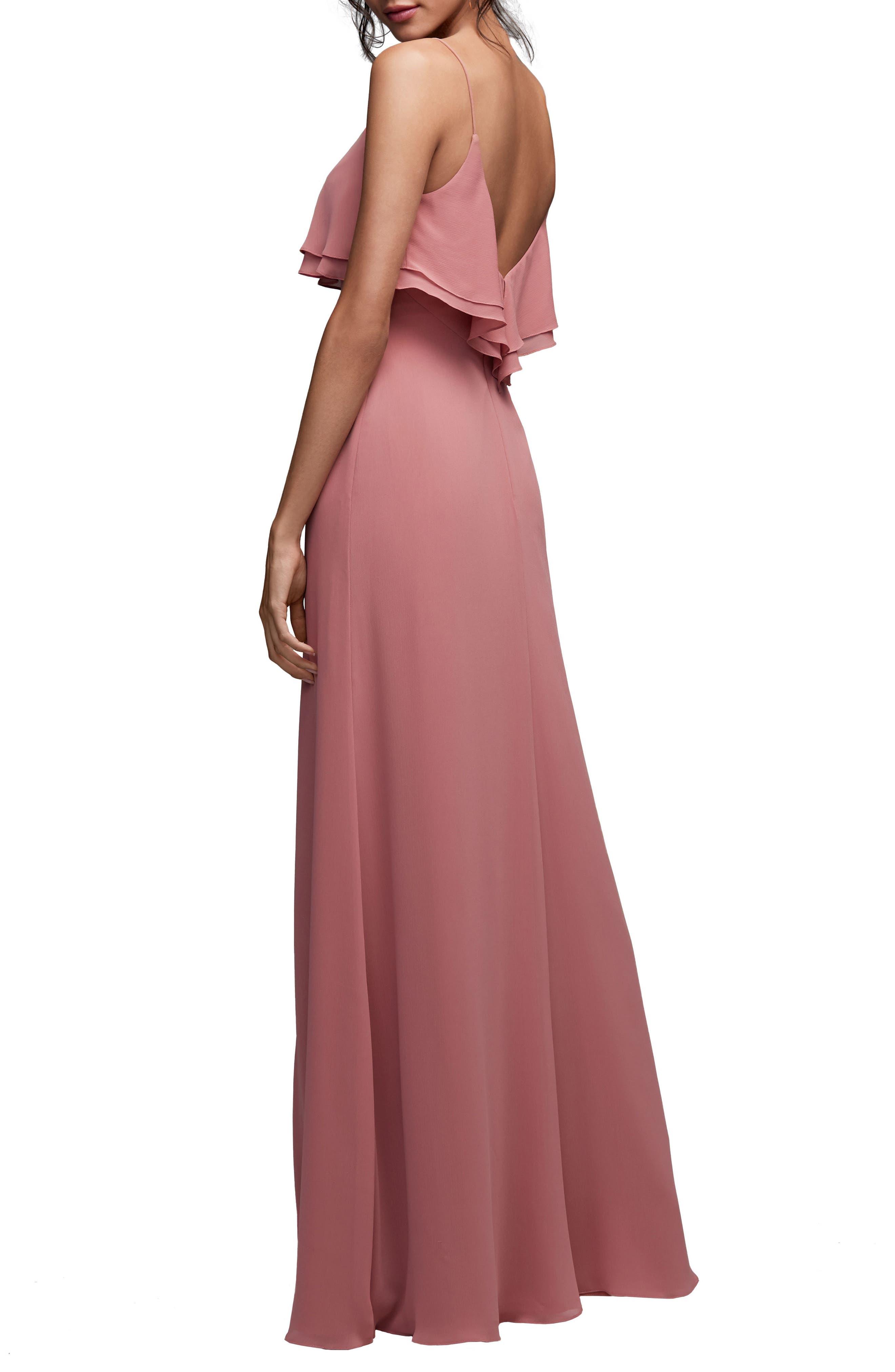 Alternate Image 2  - Watters Jasper Ruffle Popover Gown