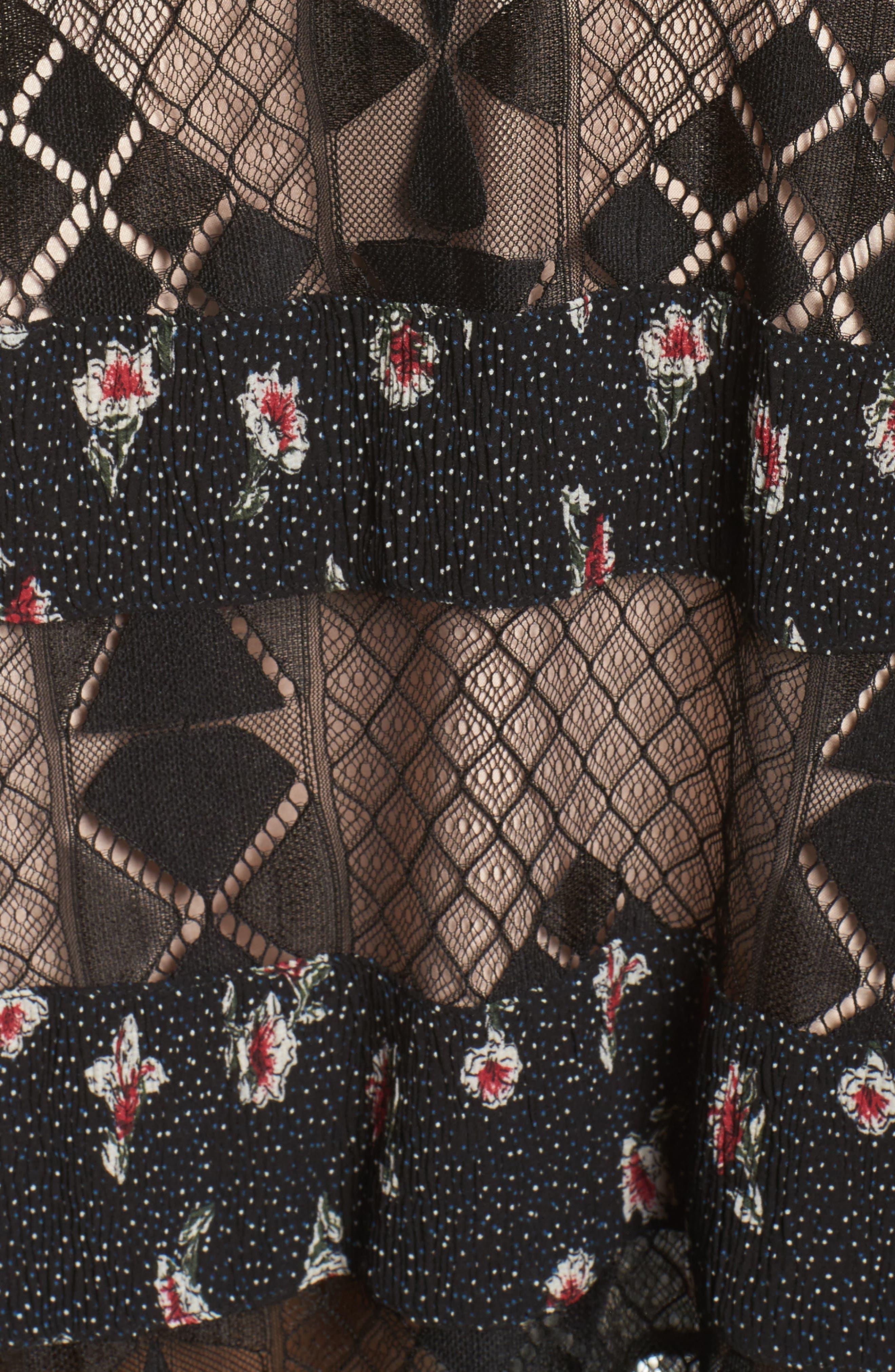 Alternate Image 6  - Foxiedox Sweetwater Stripe Midi Dress