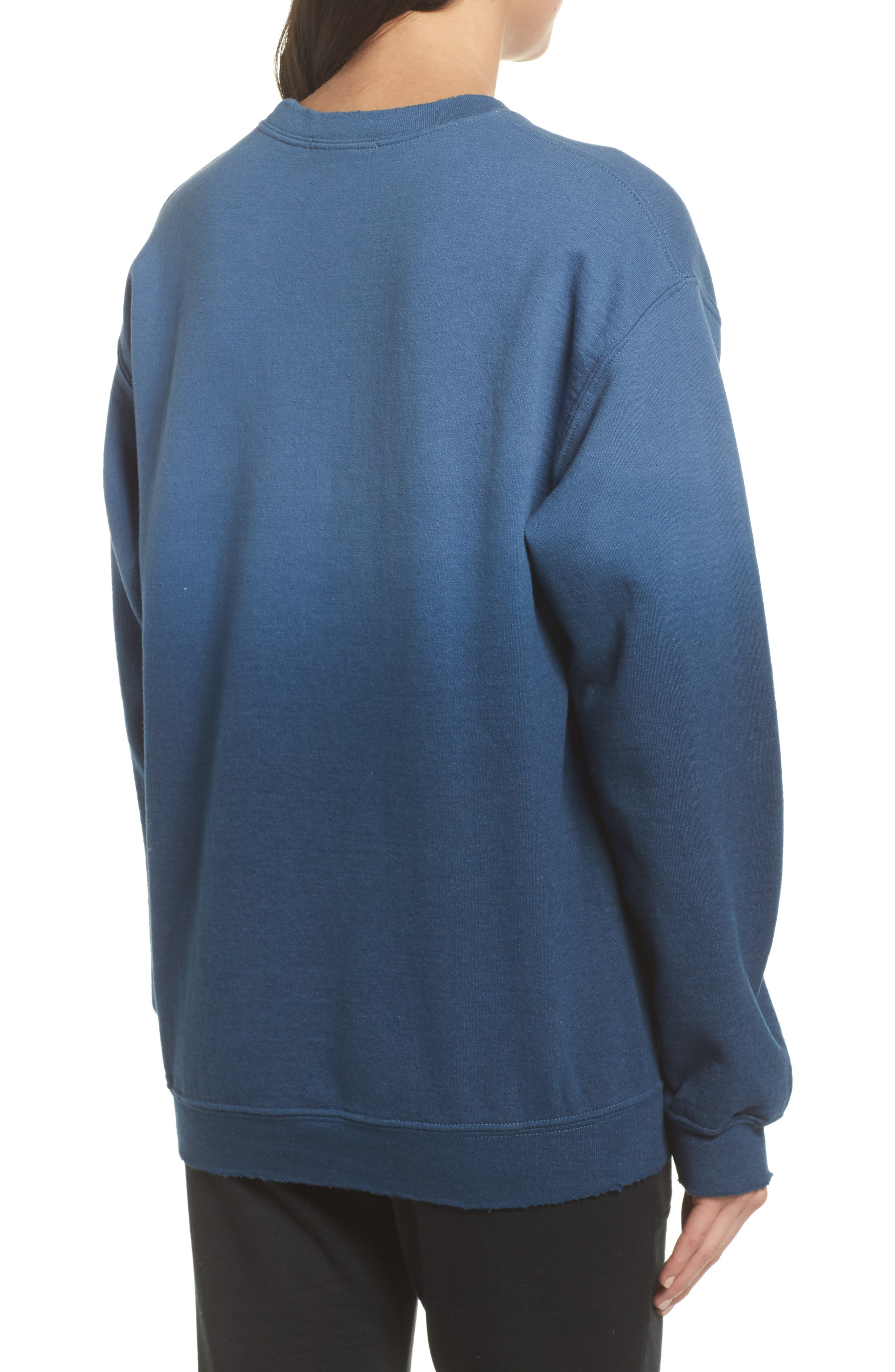 The Beatles Ombré Sweatshirt,                             Alternate thumbnail 2, color,                             True Navy