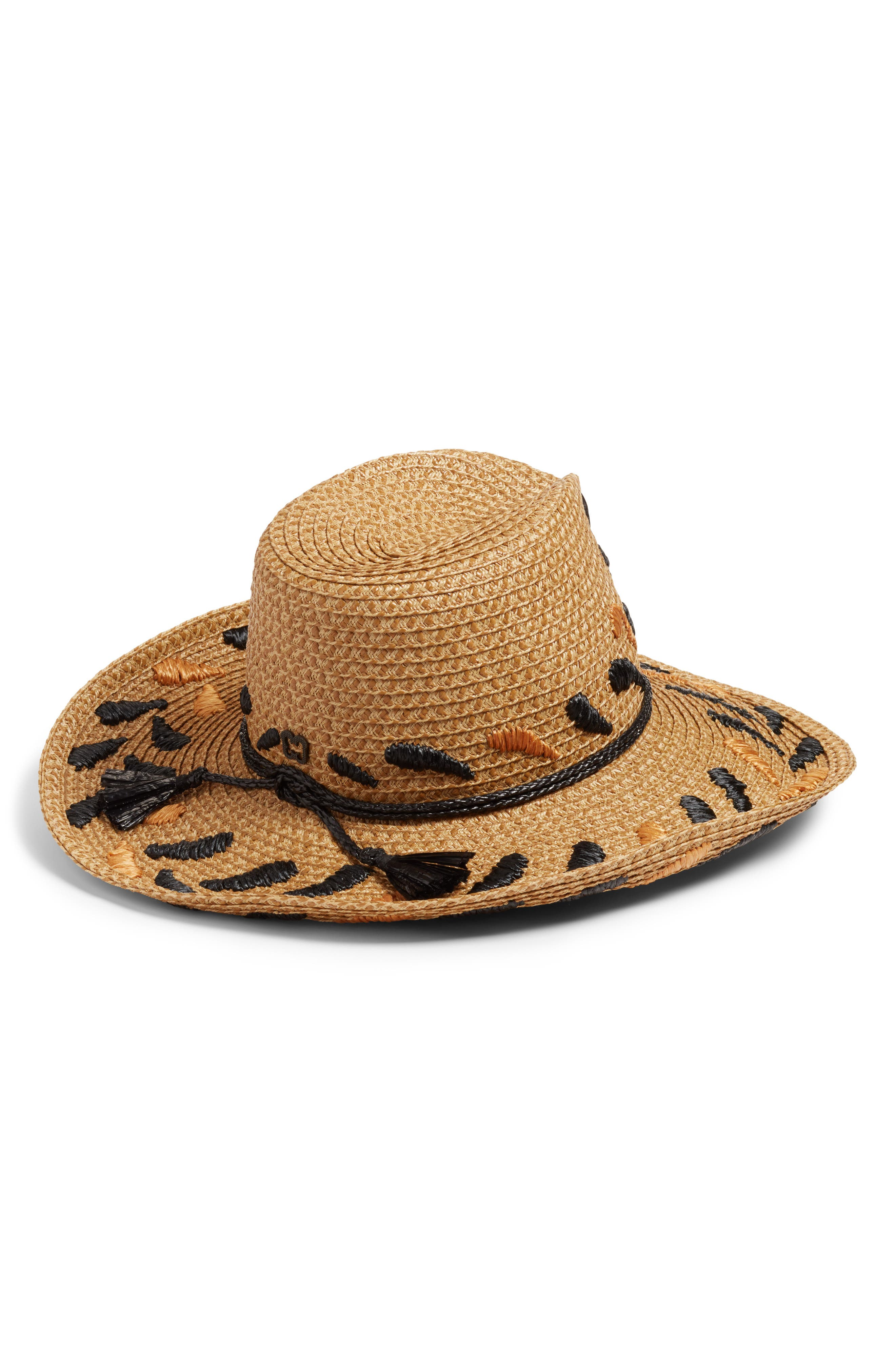 Corsica Squishee<sup>®</sup> Western Hat,                             Alternate thumbnail 2, color,                             Natural/ Black