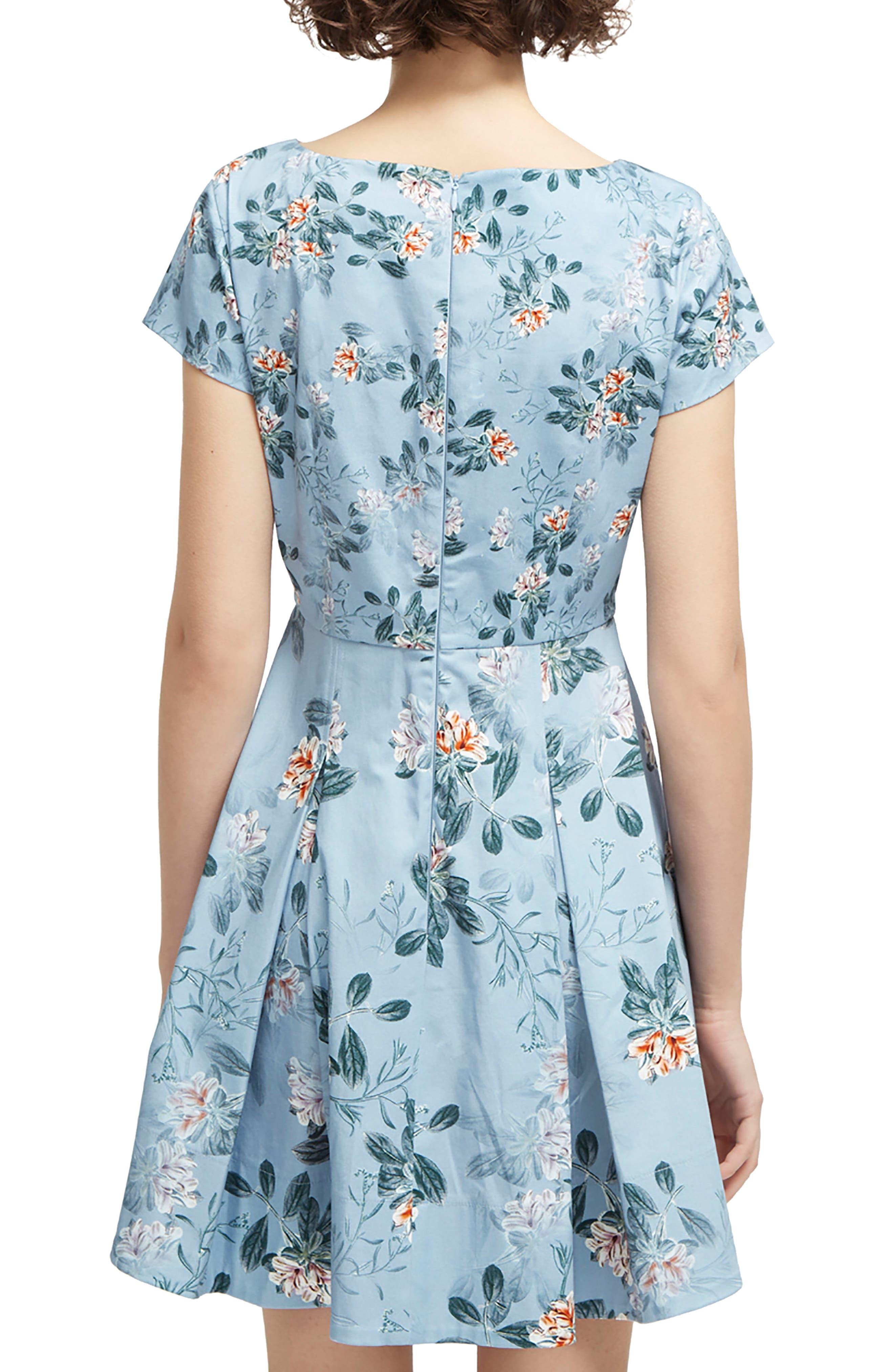 Kioa Fit & Flare Dress,                             Alternate thumbnail 2, color,                             Pavilion Blue Multi