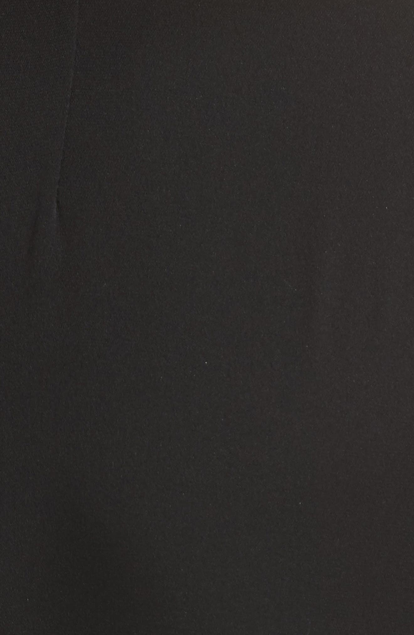 Gabby Bell Sleeve Silk Crepe Top,                             Alternate thumbnail 5, color,                             Black