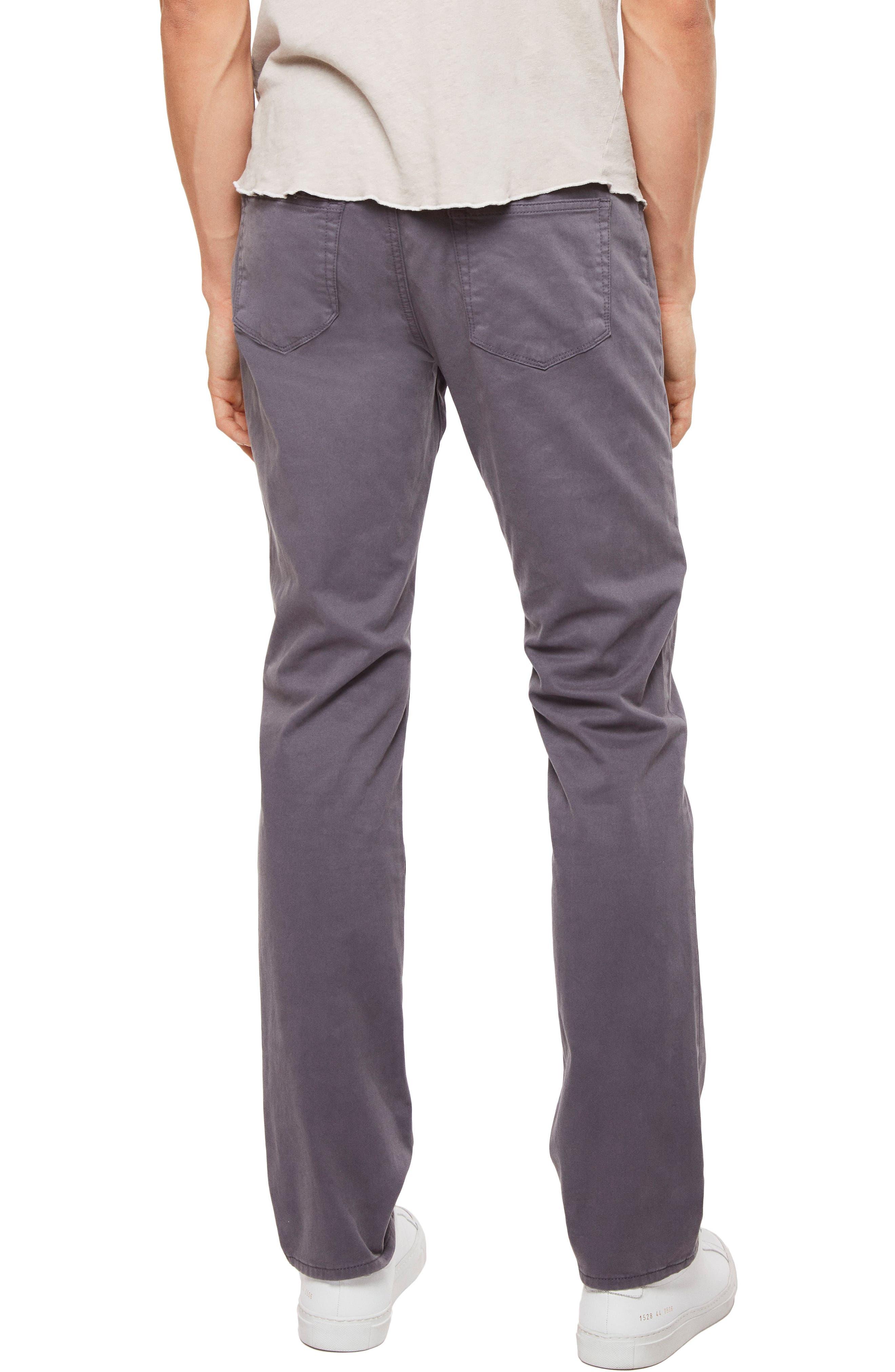 'Kane' Slim Fit Cotton Twill Pants,                             Alternate thumbnail 2, color,                             Graben
