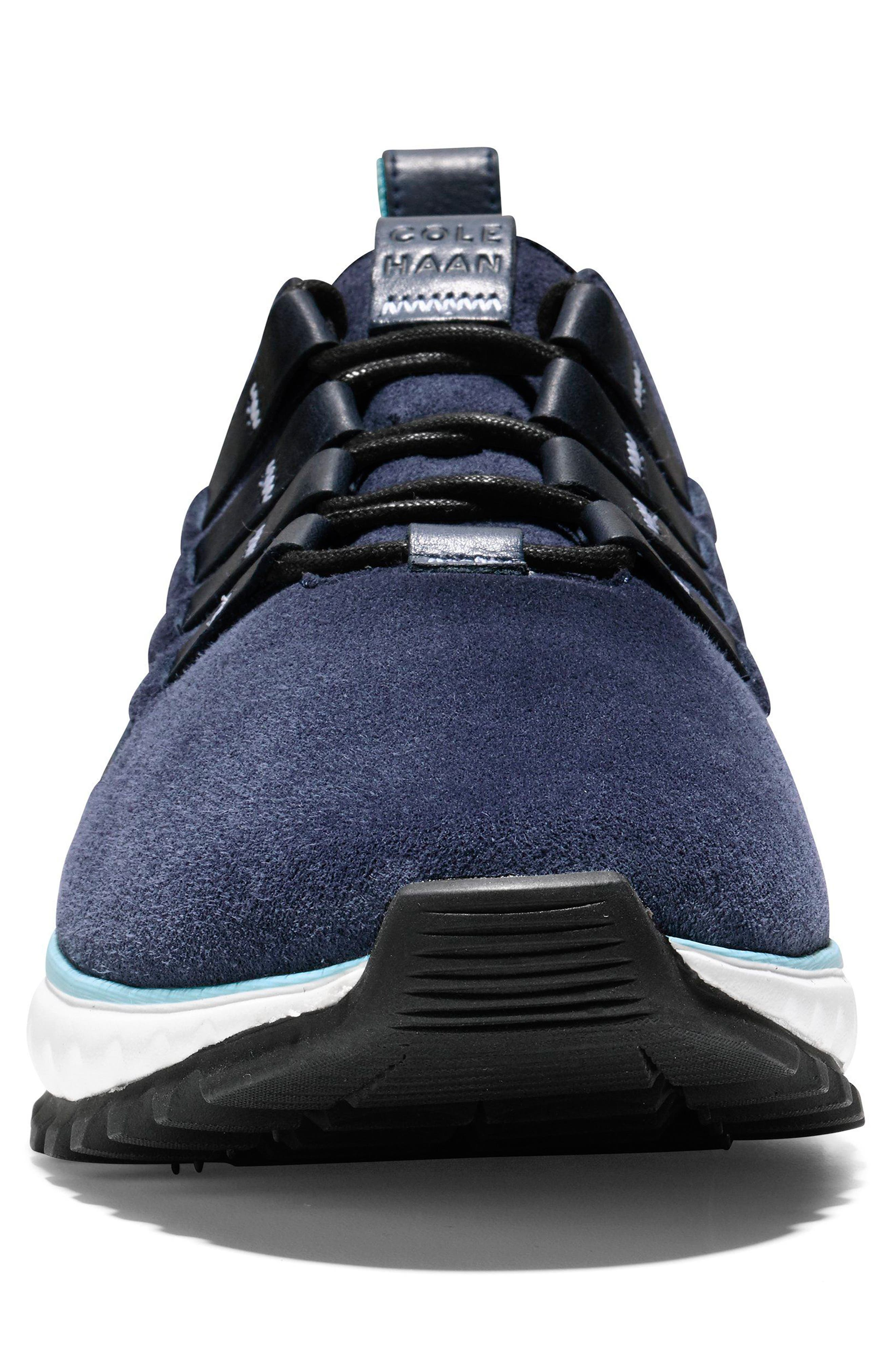 GrandExplore All Terrain Woven Sneaker,                             Alternate thumbnail 4, color,                             Marine Blue/Optic White/Black
