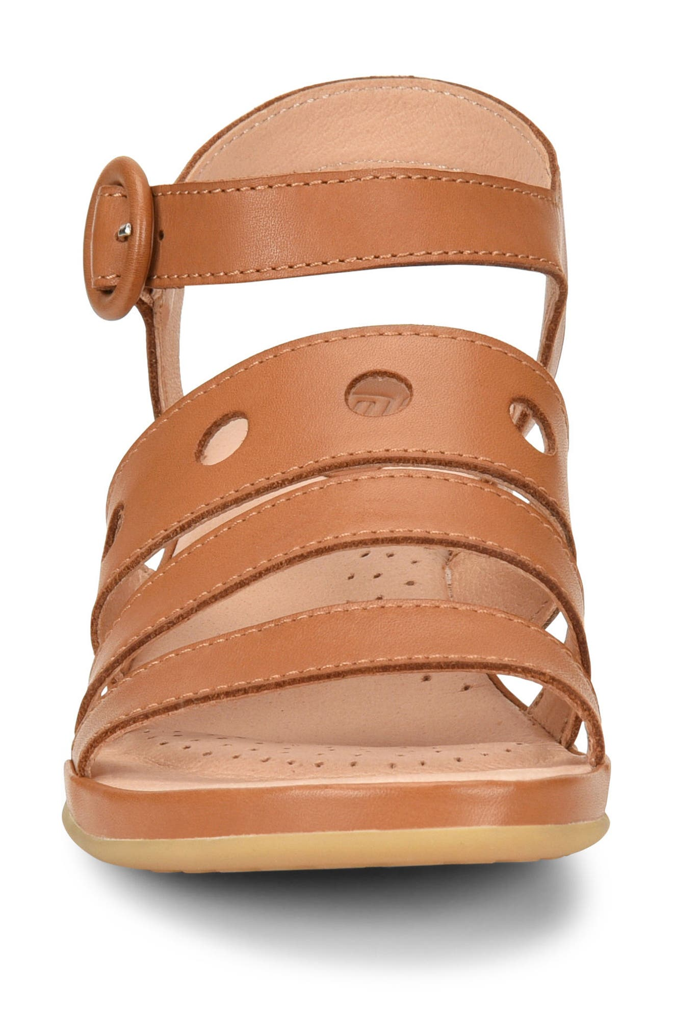 Becka Sandal,                             Alternate thumbnail 4, color,                             Brown Leather