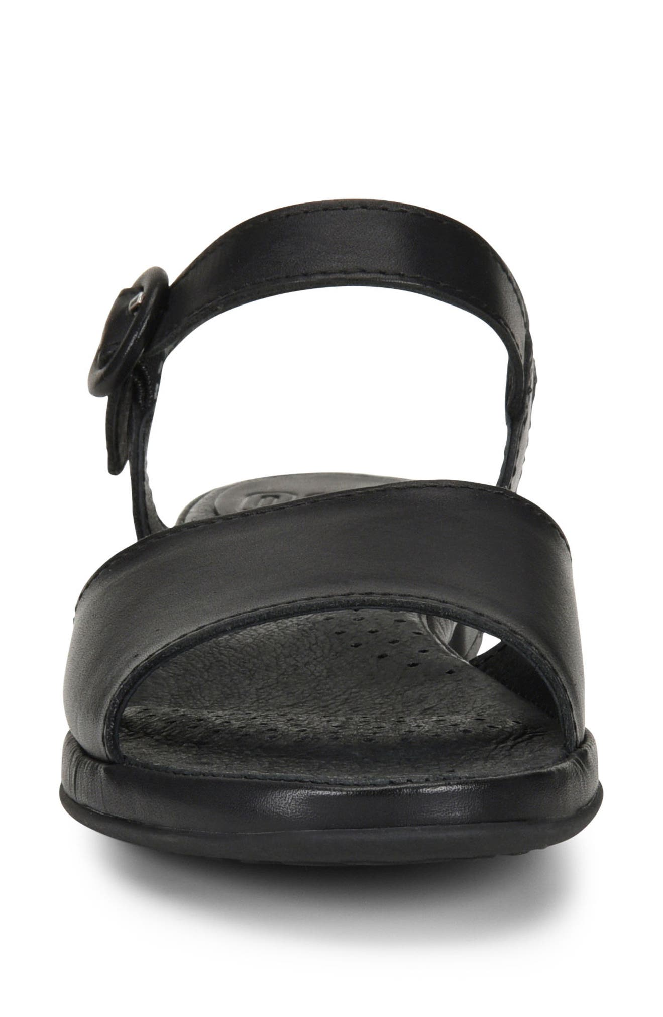 Berry Sandal,                             Alternate thumbnail 4, color,                             Black Leather
