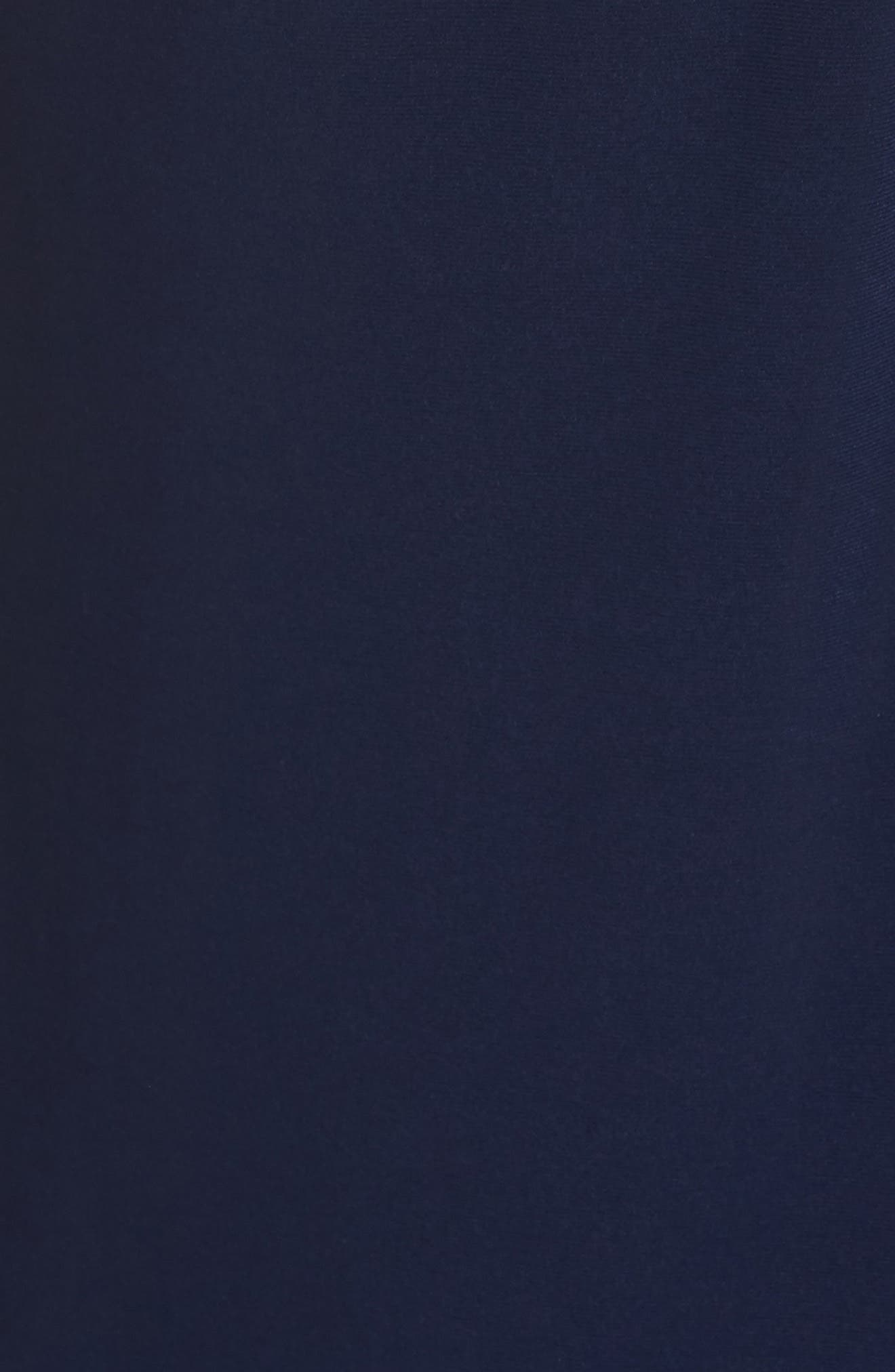 Embellished Shoulder Jersey Gown,                             Alternate thumbnail 5, color,                             Navy