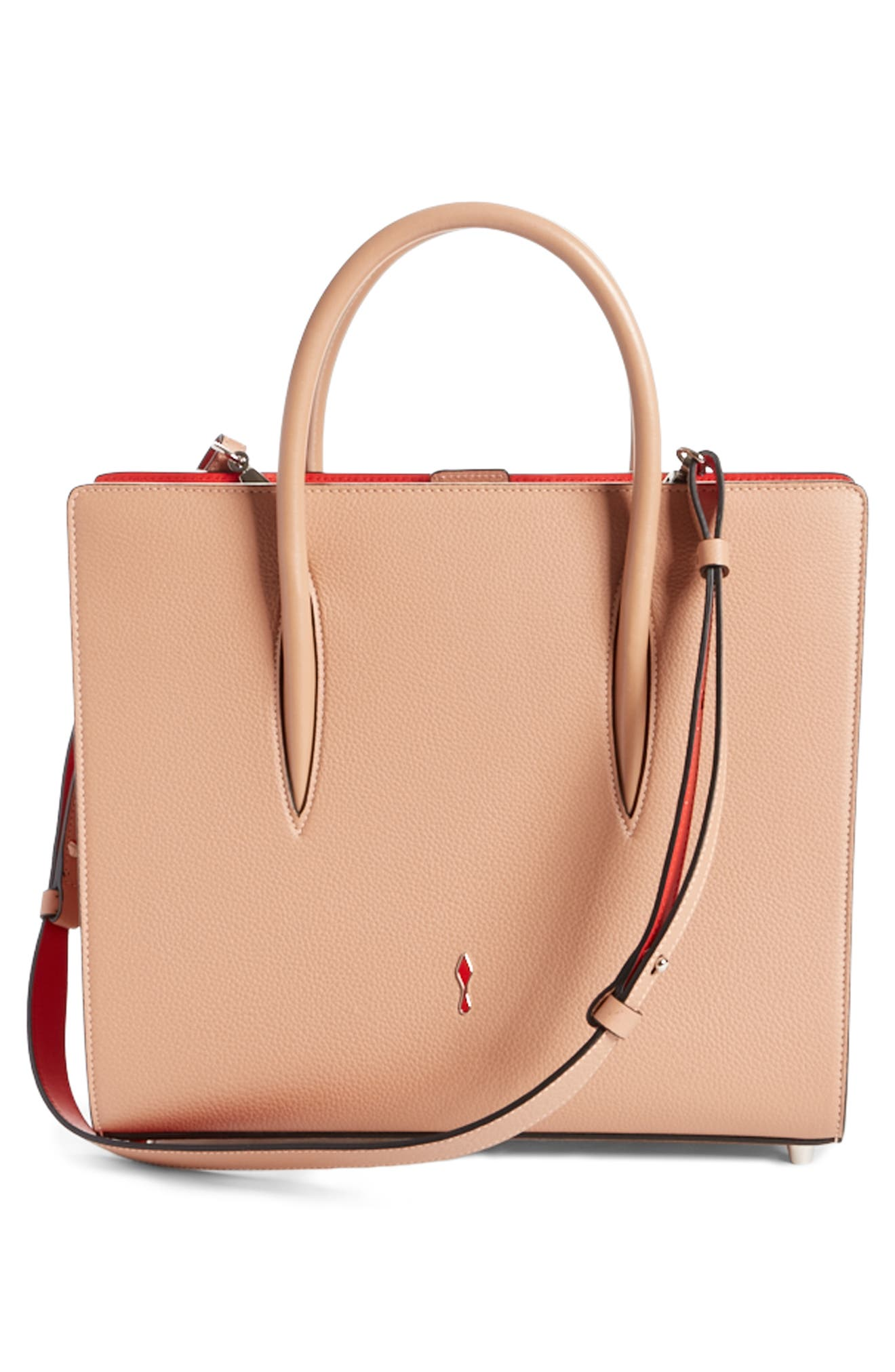Alternate Image 2  - Christian Louboutin Medium Paloma Leather Tote