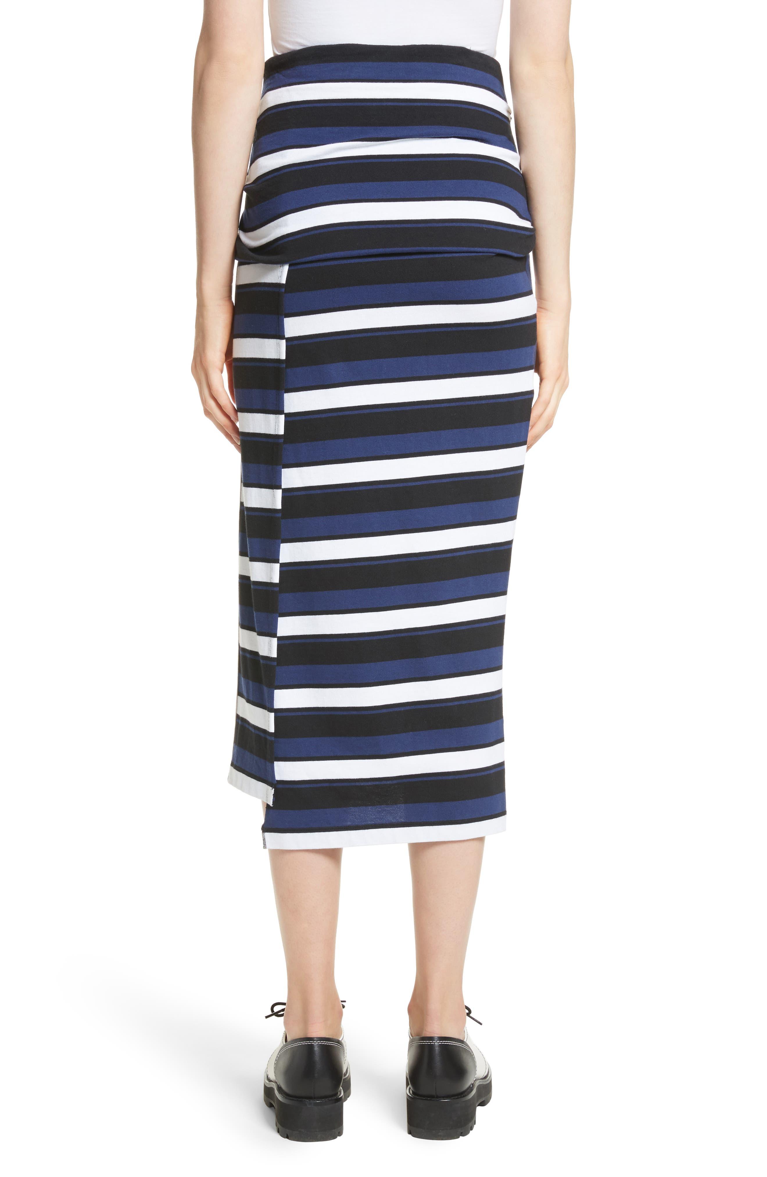 Stripe Maxi Skirt,                             Alternate thumbnail 2, color,                             Cobalt-Black