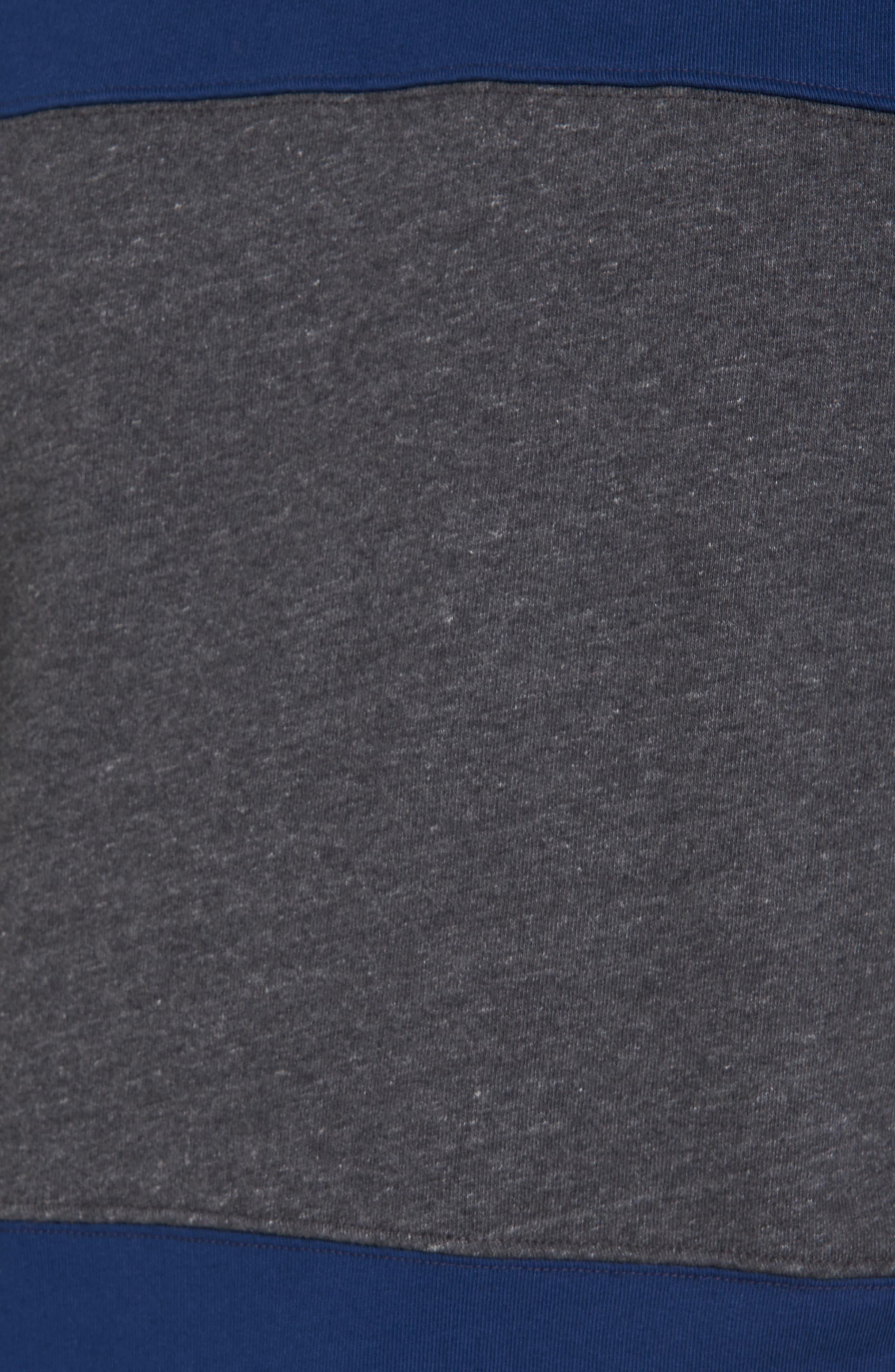 Tipped Colorblock Sweatshirt,                             Alternate thumbnail 2, color,                             Night Rider