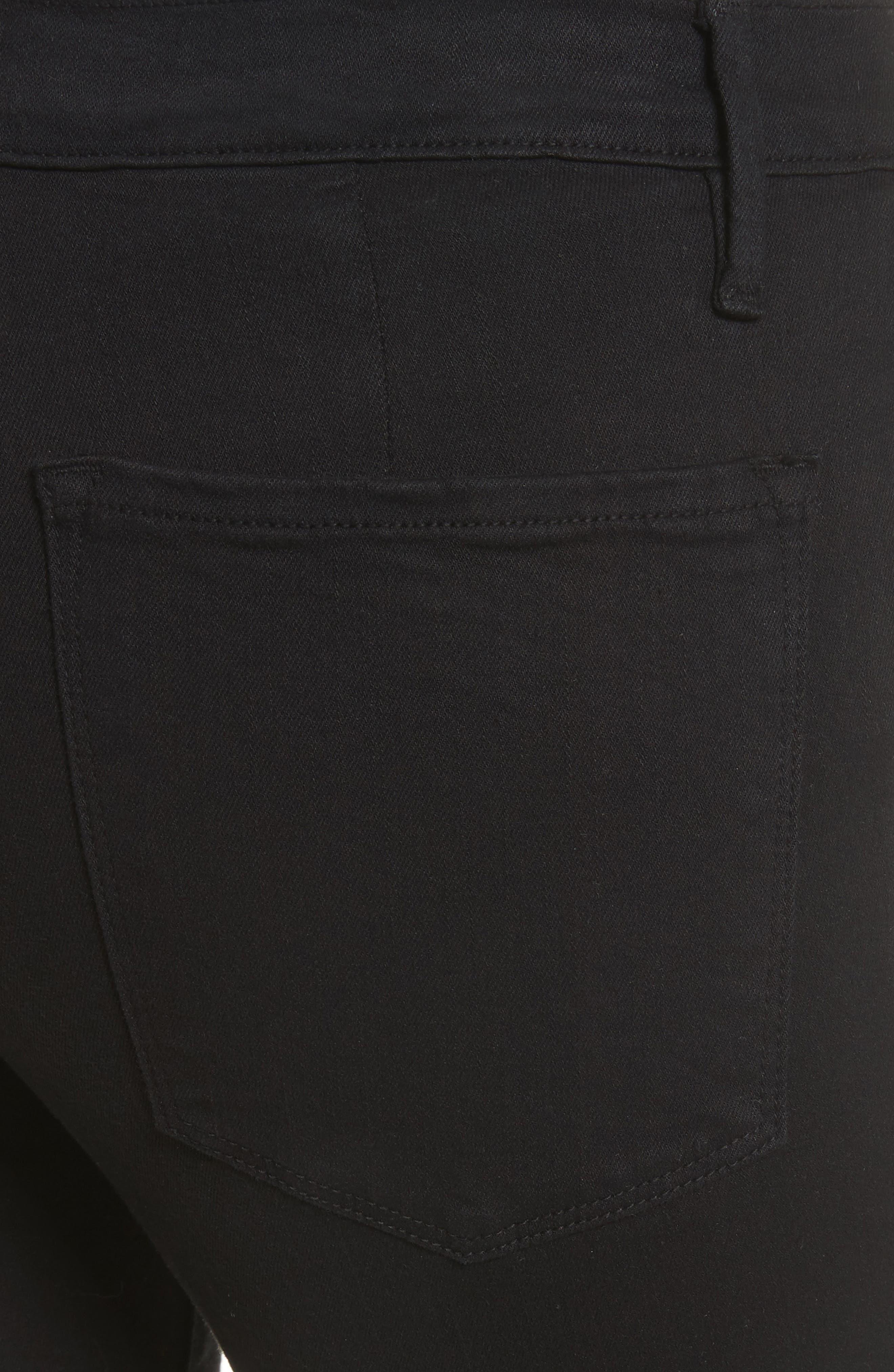 Le Skinny de Jeanne Flounce Skinny Jeans,                             Alternate thumbnail 5, color,                             Film Noir