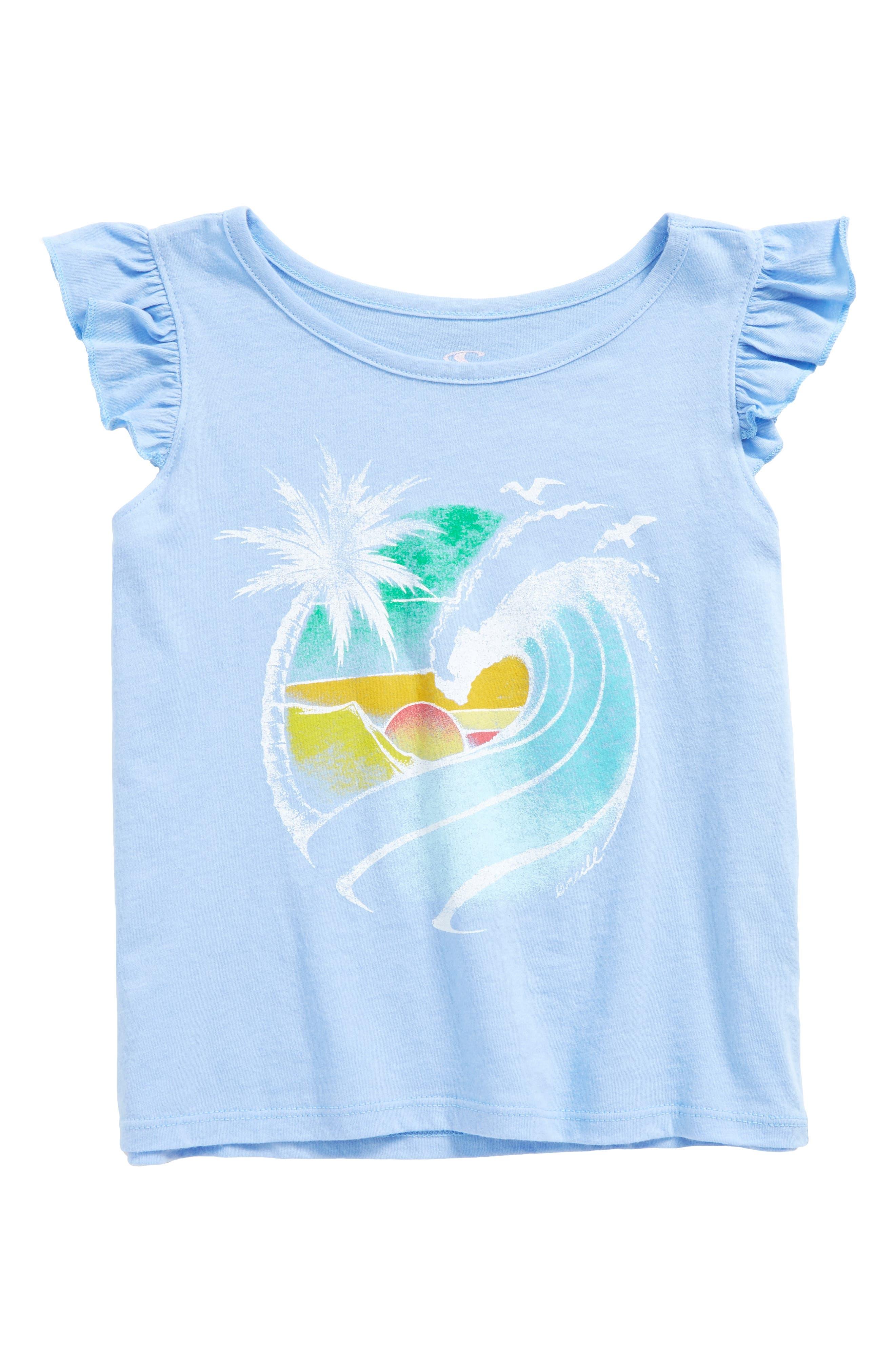 Beach Dreams Graphic Tee,                         Main,                         color, Bleached Denim- Ctb