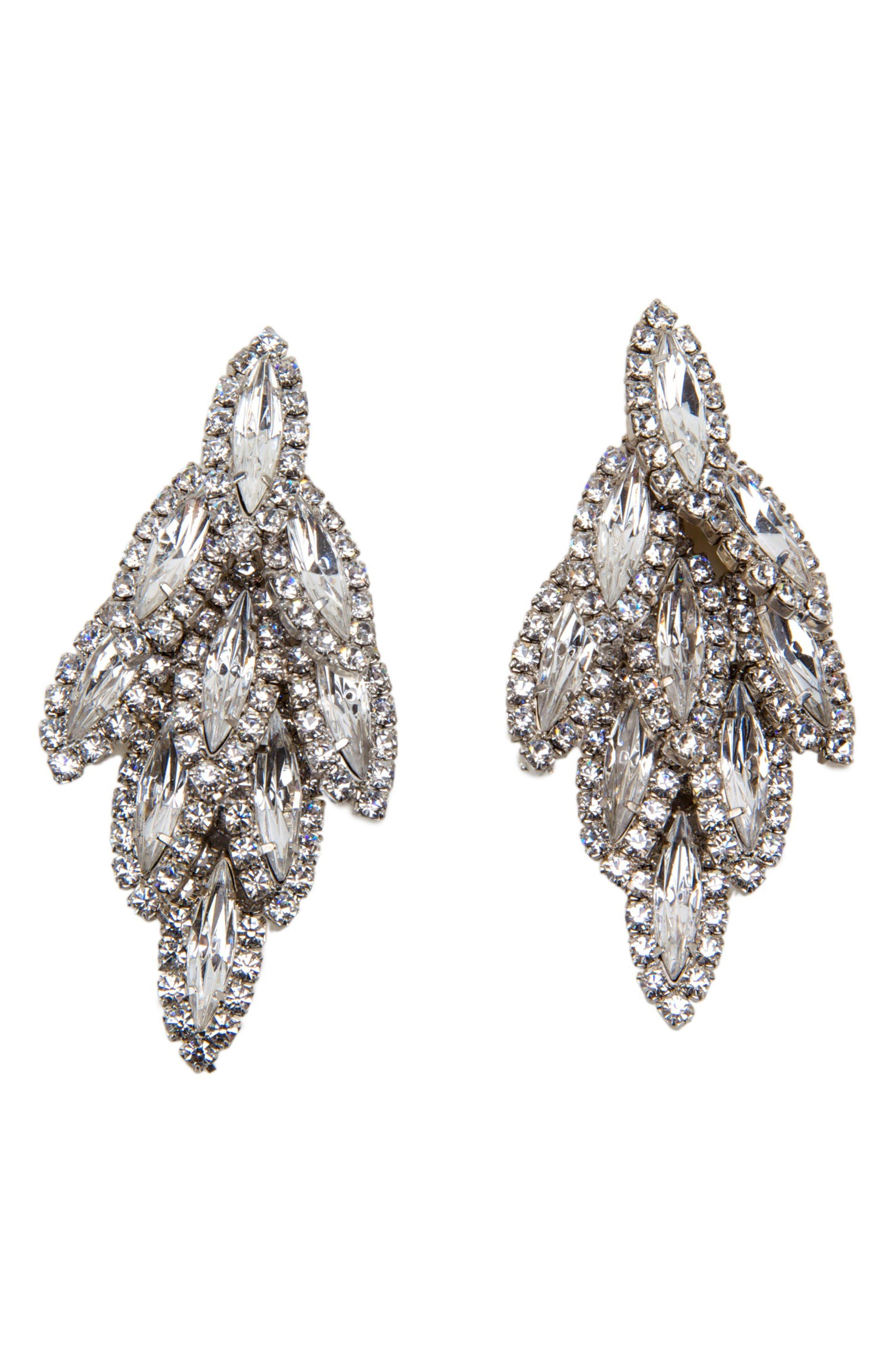 Alternate Image 1 Selected - Elizabeth Cole Bacall Crystal Drop Earrings