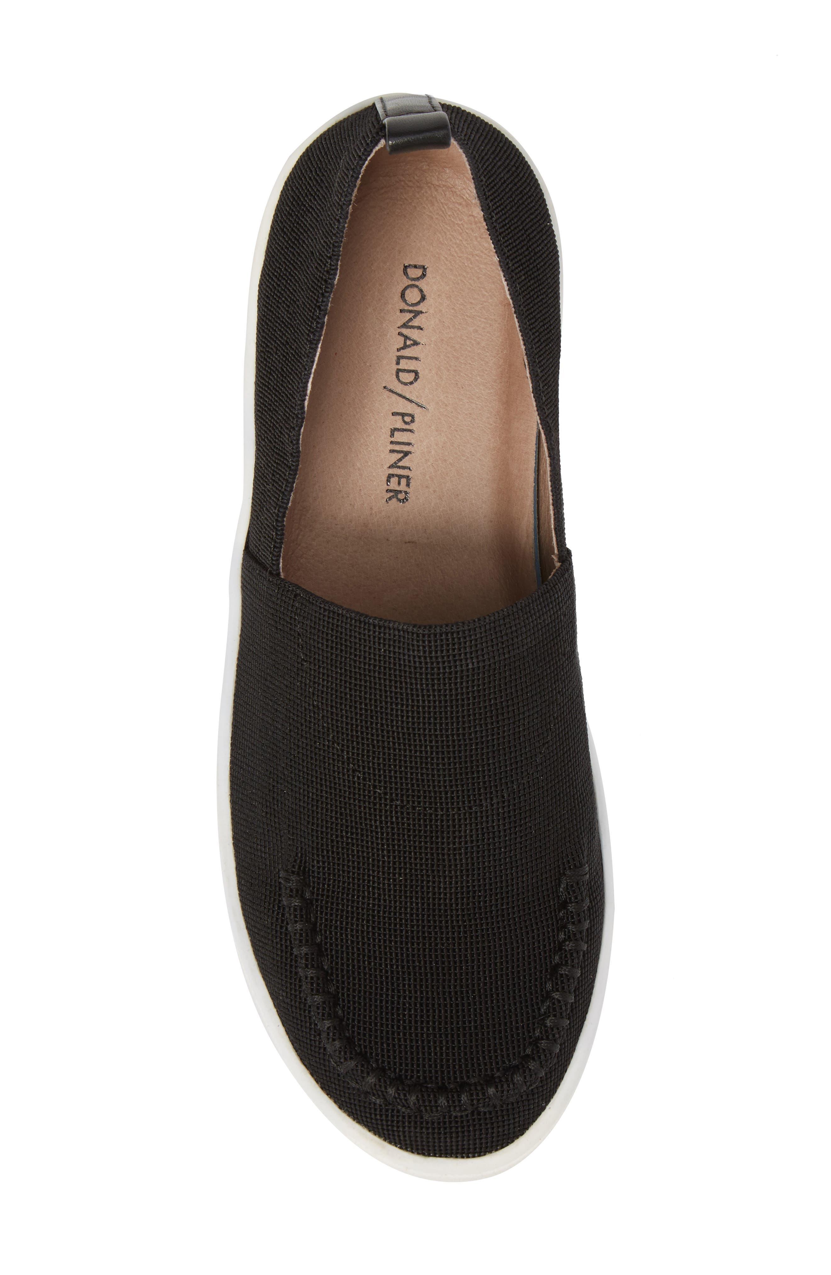 Cory Slip-On Sneaker,                             Alternate thumbnail 5, color,                             Black Elastic Fabric