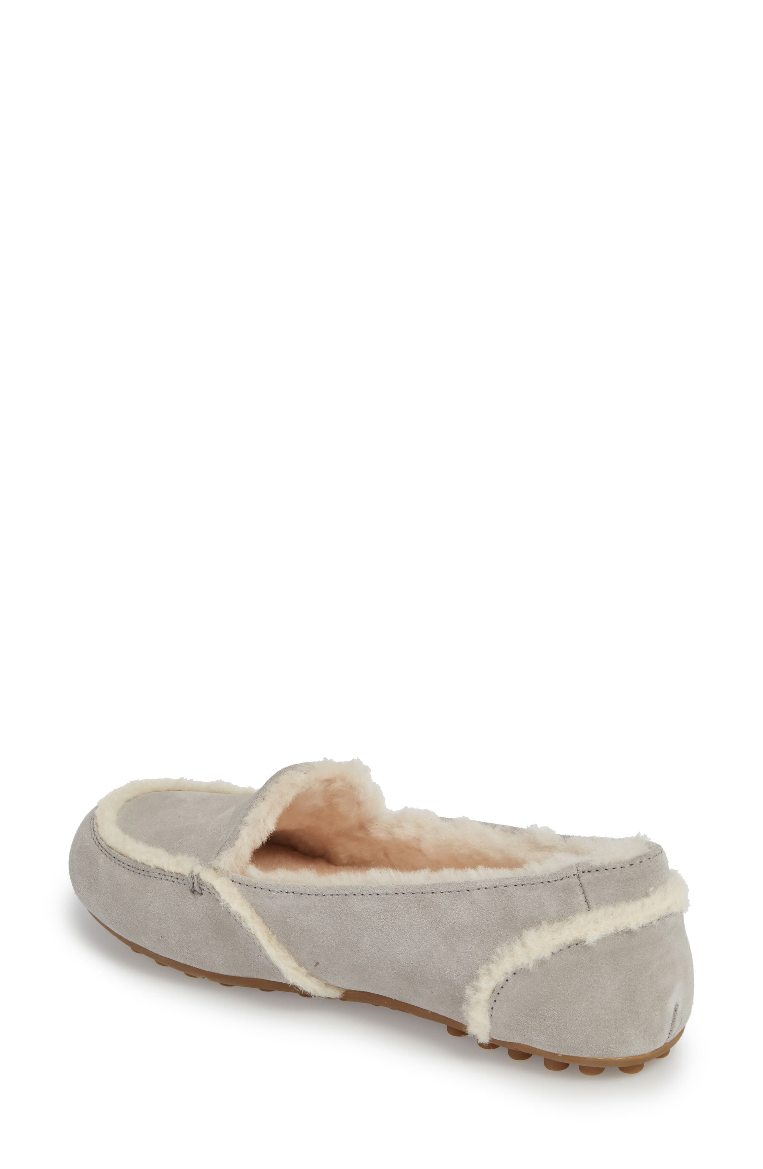 Hailey Slipper,                             Alternate thumbnail 3, color,                             Grey Suede