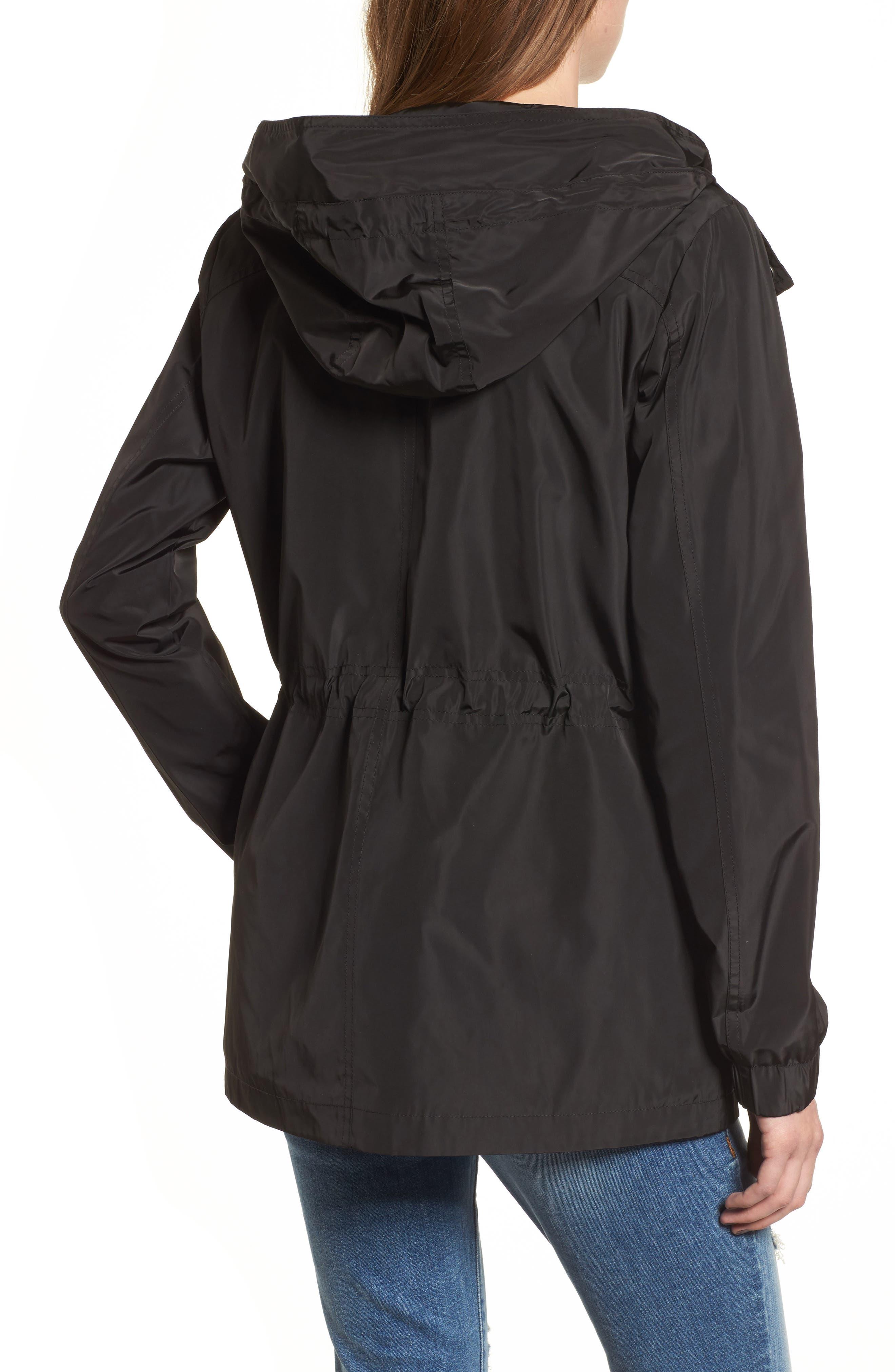 Rain Jacket,                             Alternate thumbnail 5, color,                             Black