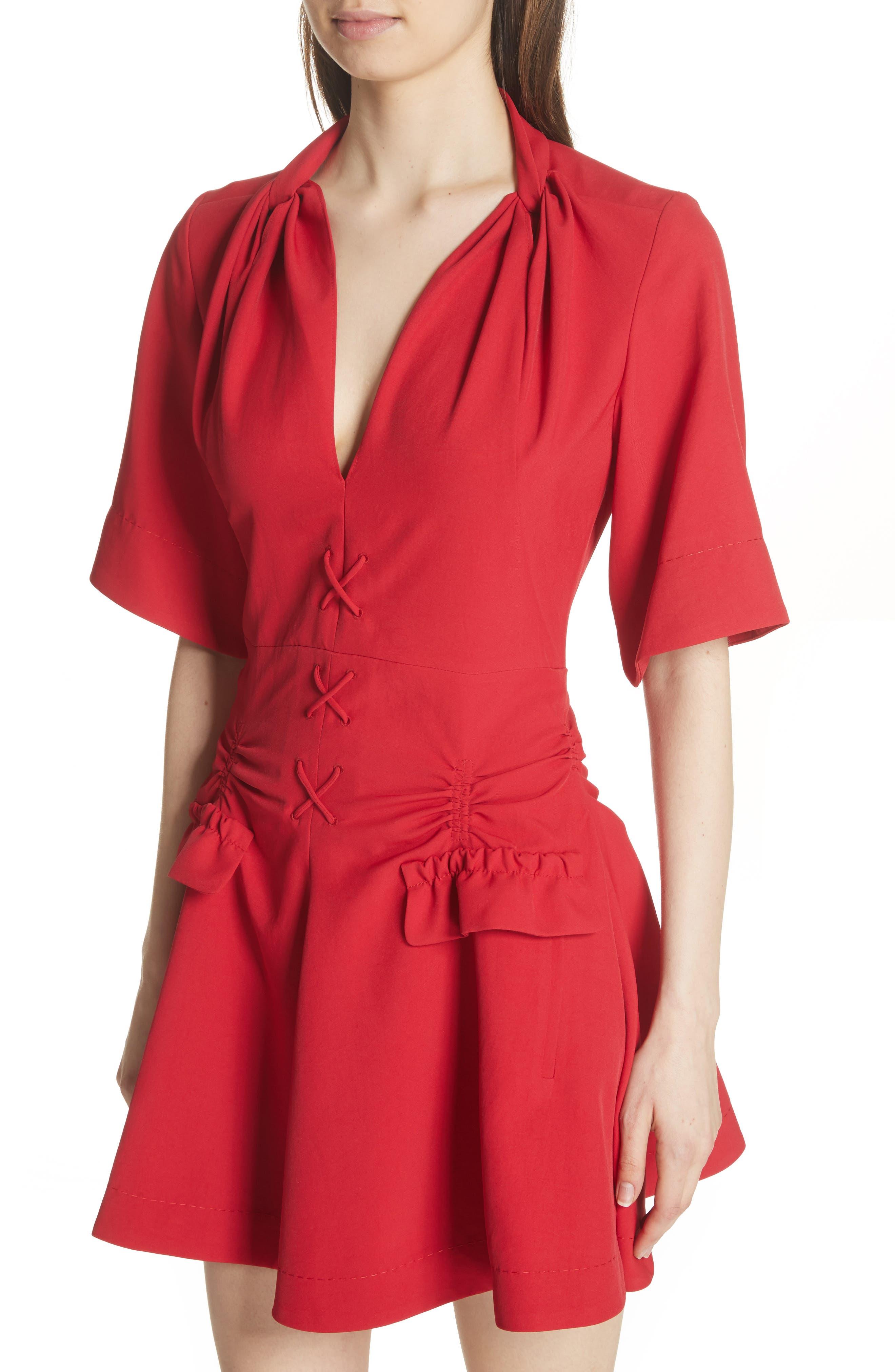 Alternate Image 4  - Carven Robe Courte Lace-Up Dress