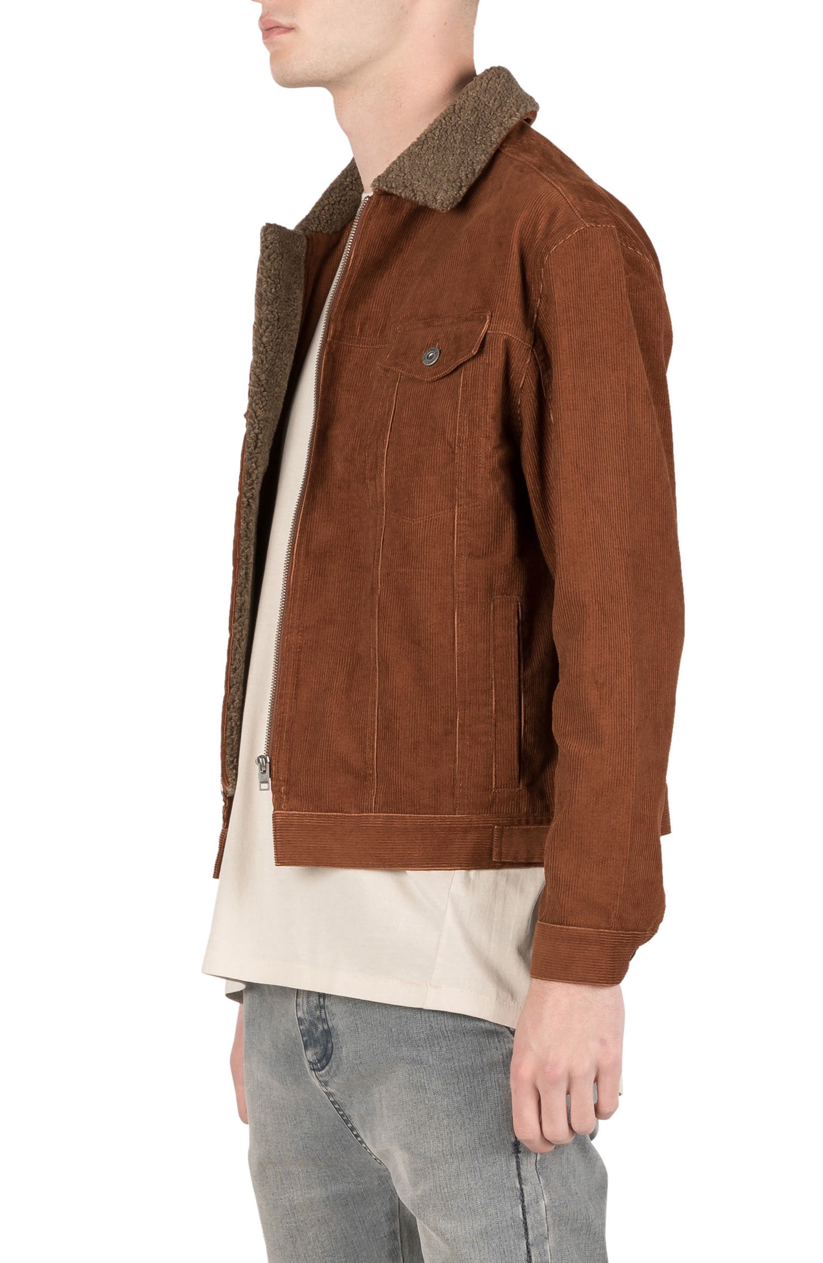 Snitch Corduroy Jacket,                             Alternate thumbnail 4, color,                             Dark Bronze