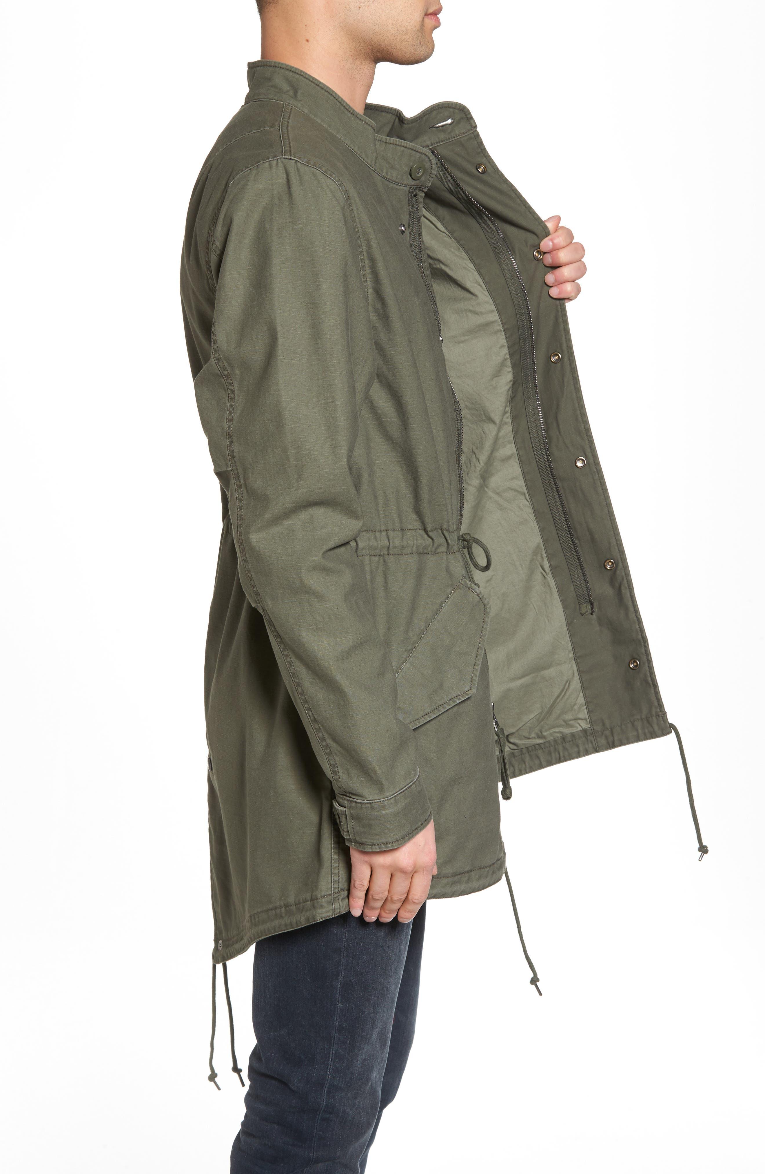 Recruit Fishtail Jacket,                             Alternate thumbnail 3, color,                             M-65 Olive