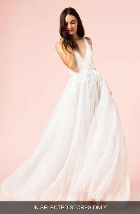 Womens wedding dresses bridal gowns nordstrom bliss monique lhuillier v neck ballgown junglespirit Gallery