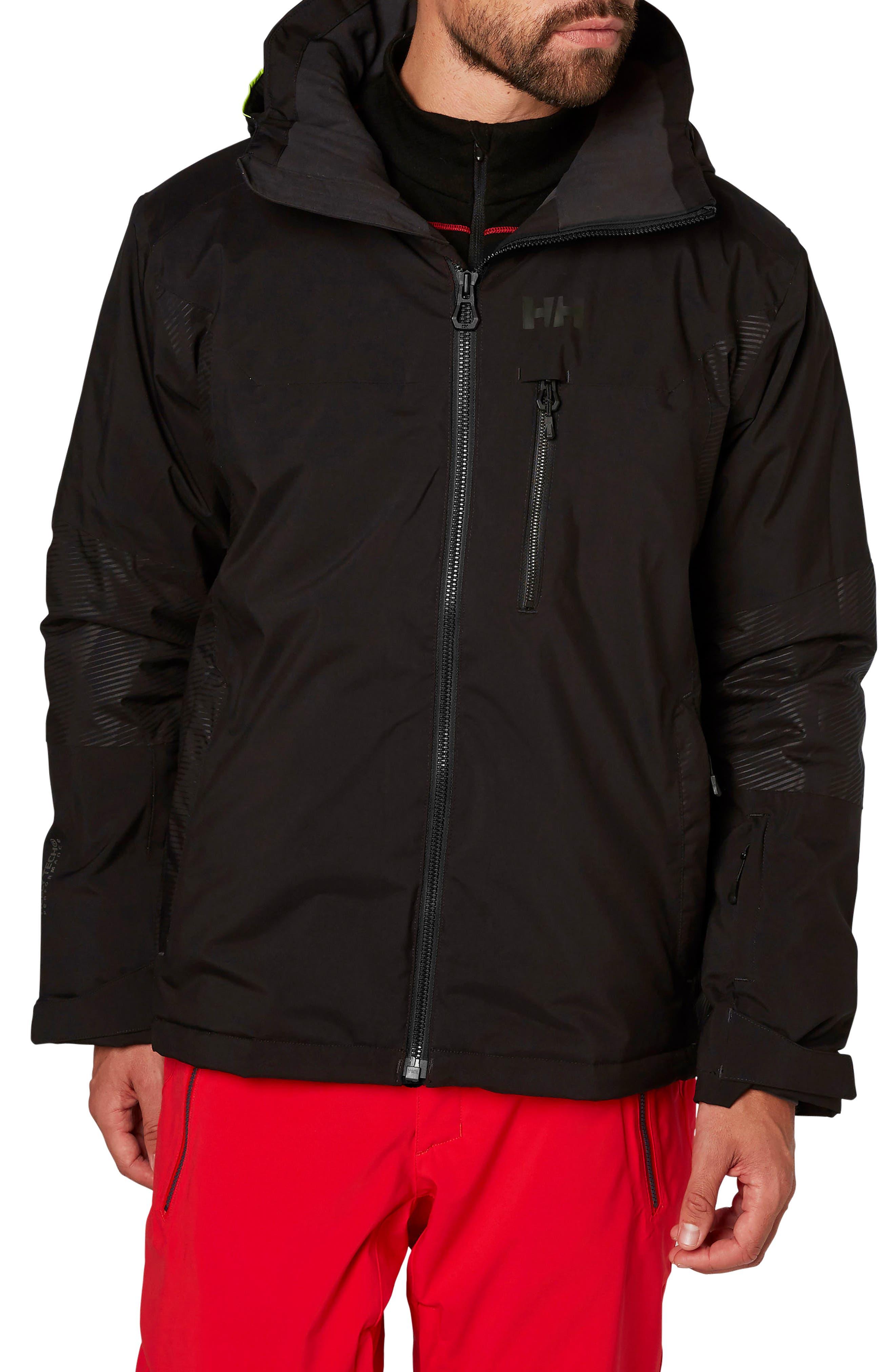 Double Diamond Waterproof Jacket,                         Main,                         color, Black