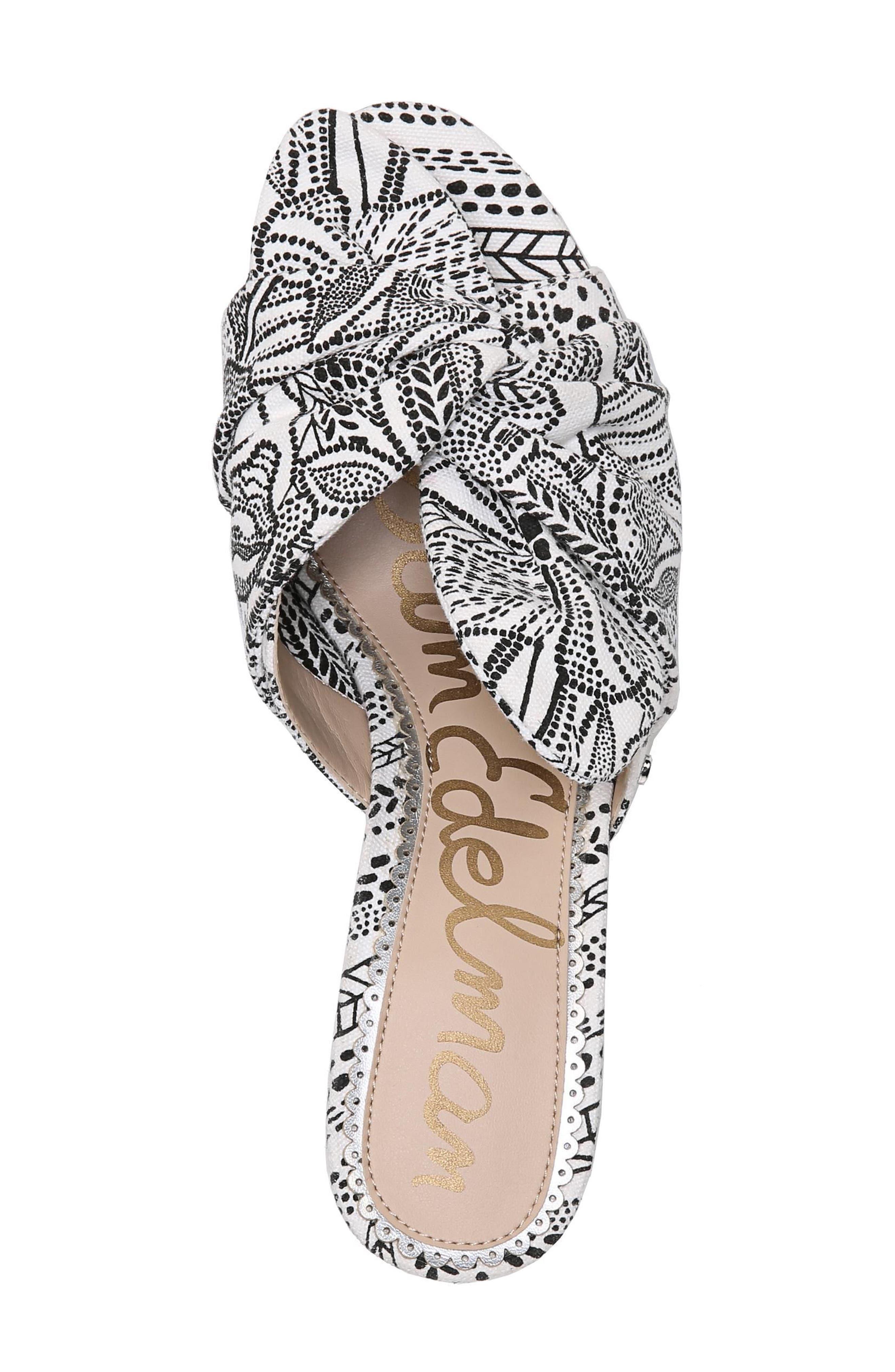 Oda Slide Sandal,                             Alternate thumbnail 8, color,                             White Multi Print