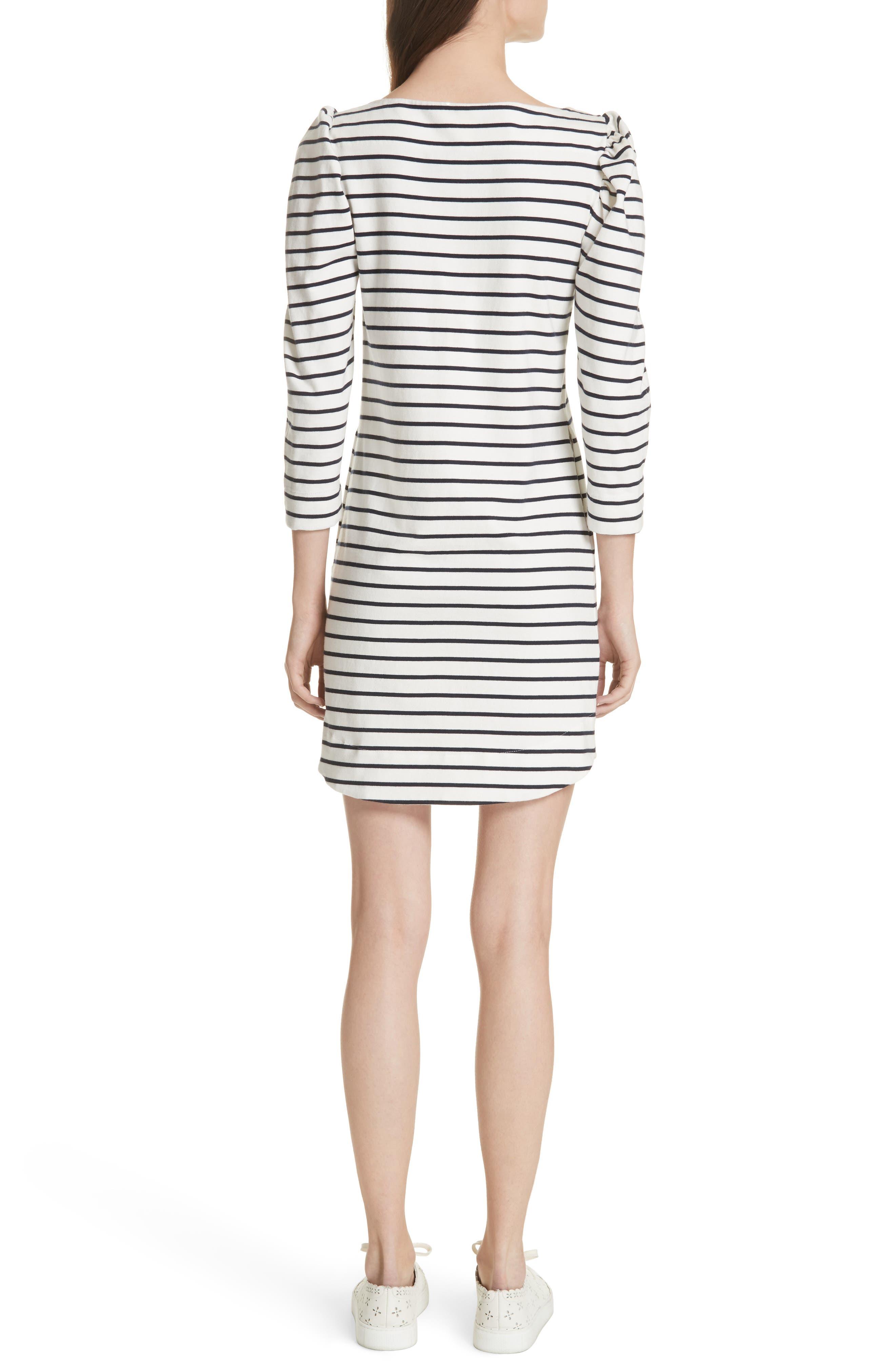 Stripe Knit Dress,                             Alternate thumbnail 2, color,                             Milk Combo