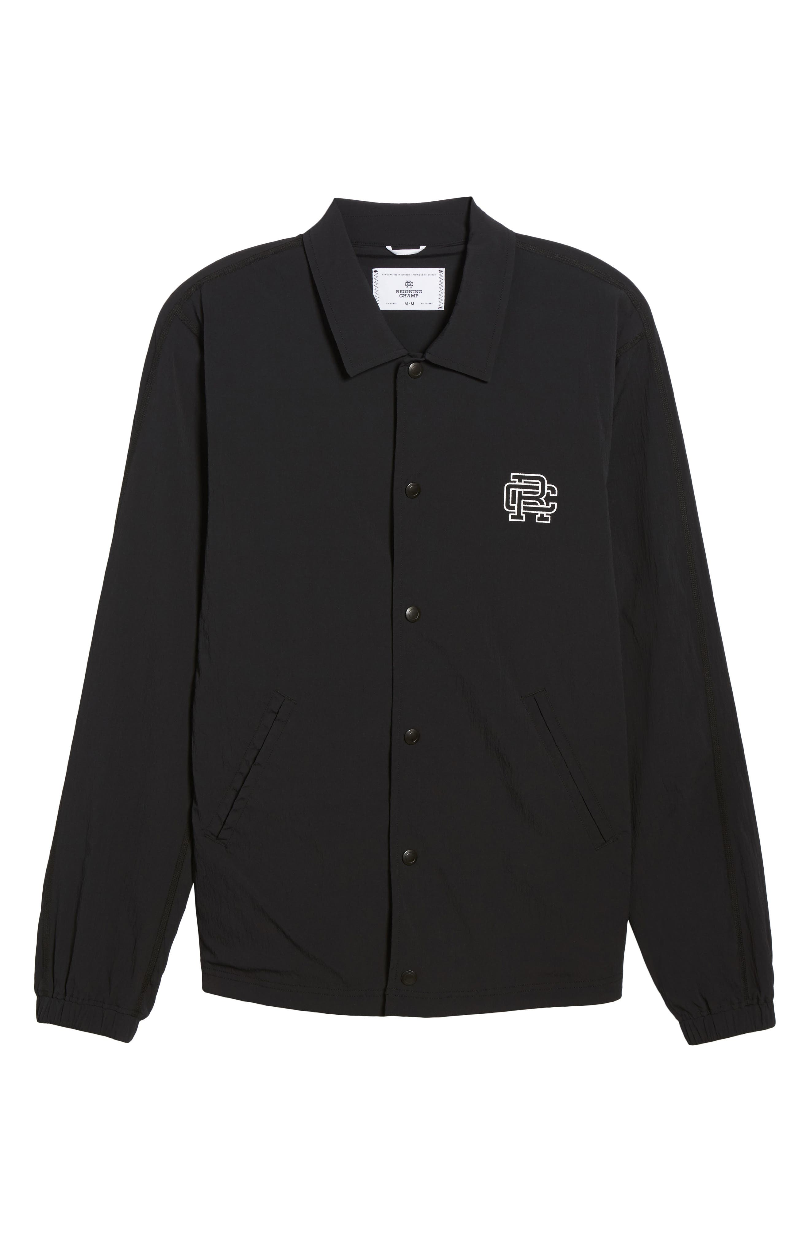 Coach's Jacket,                             Alternate thumbnail 6, color,                             Black