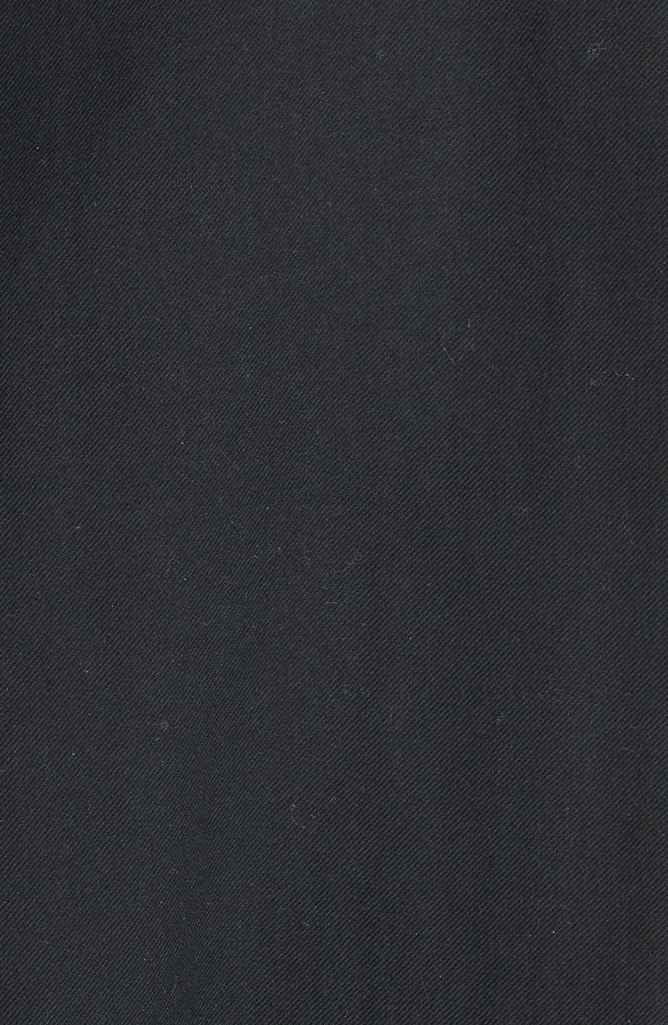 Shirred Cotton Blouse,                             Alternate thumbnail 5, color,                             Black