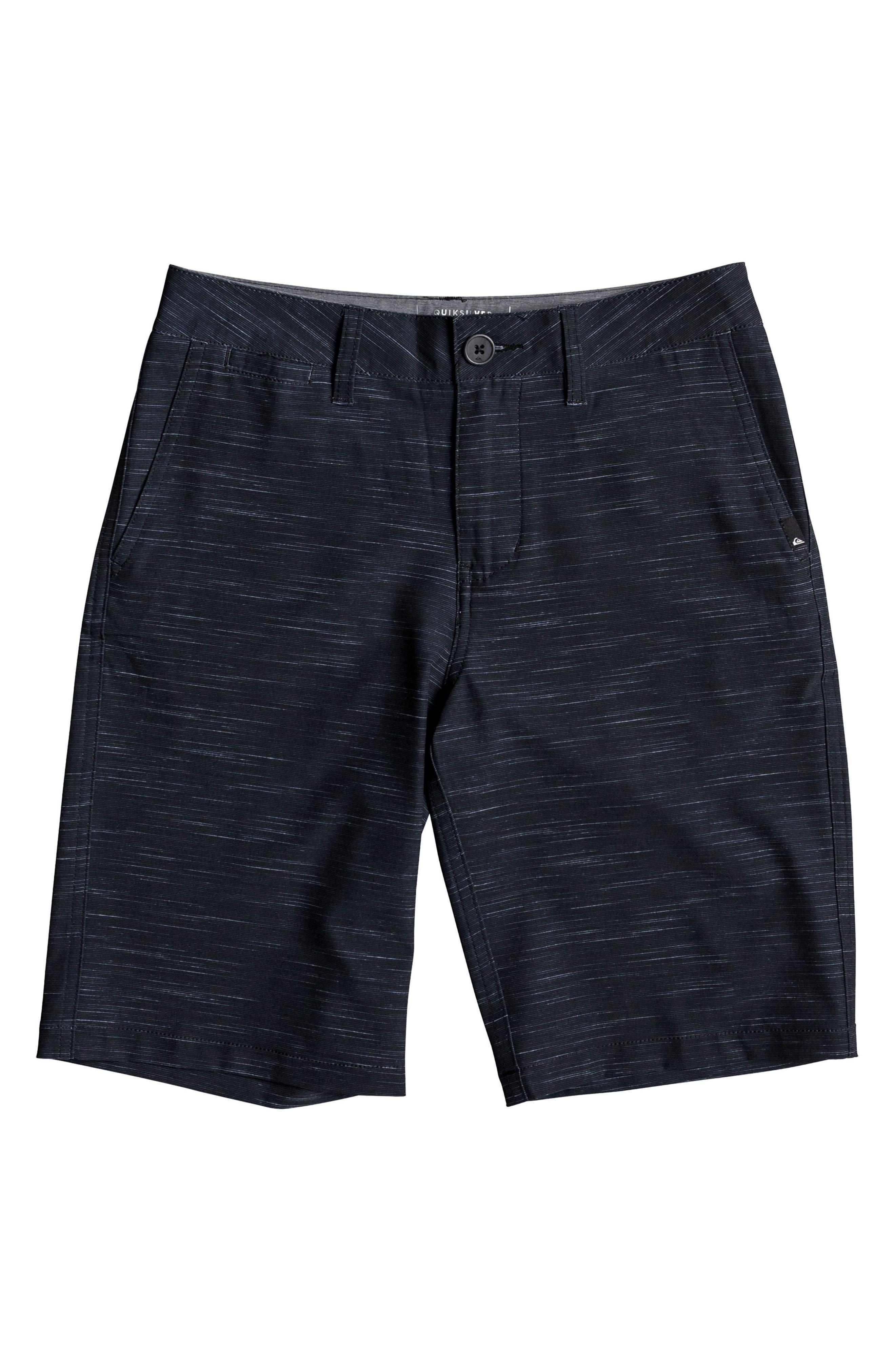 Union Slub Amphibian Board Shorts,                         Main,                         color, Black