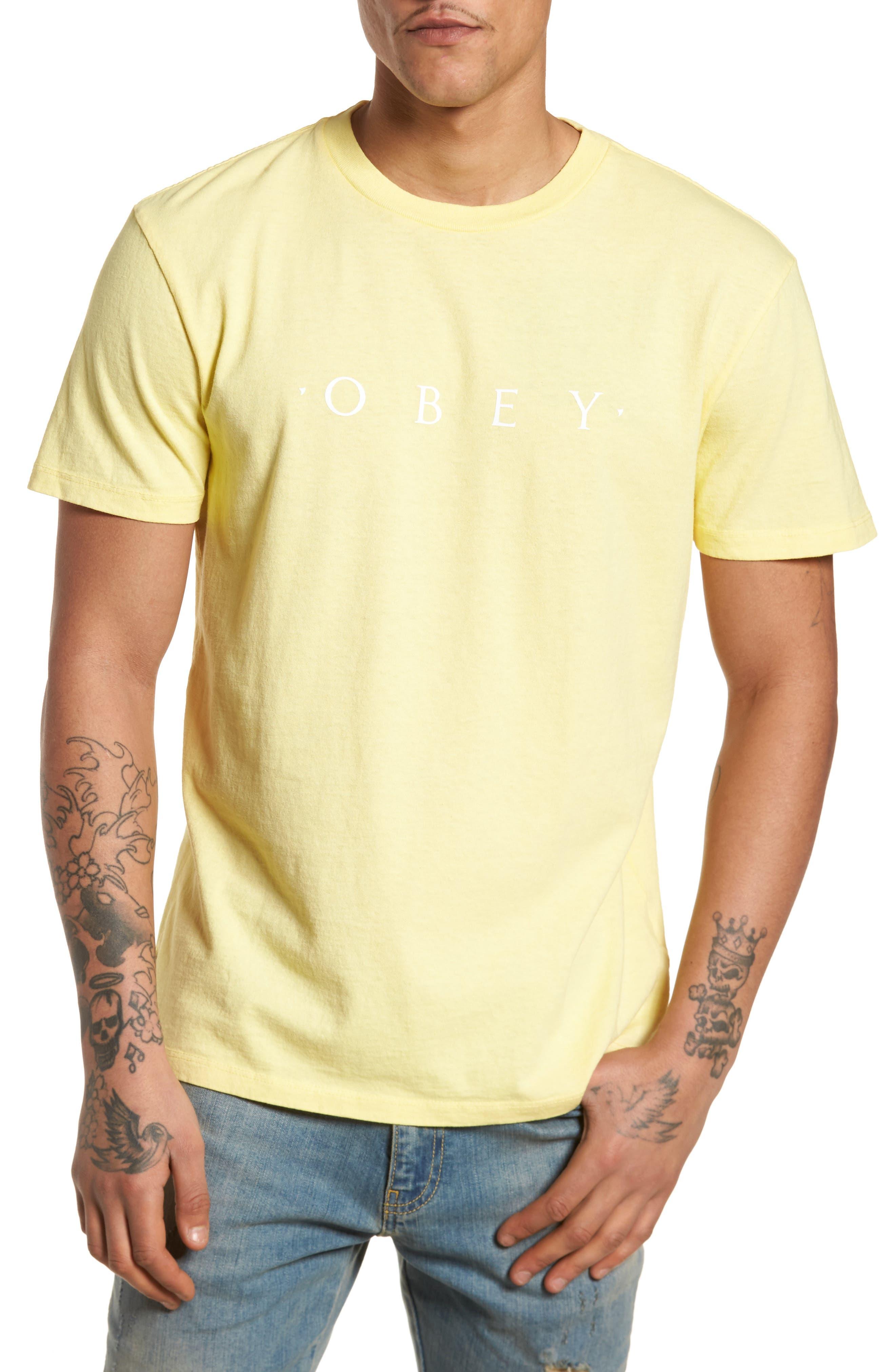Logo Graphic T-Shirt,                             Main thumbnail 1, color,                             Dusty Lemon