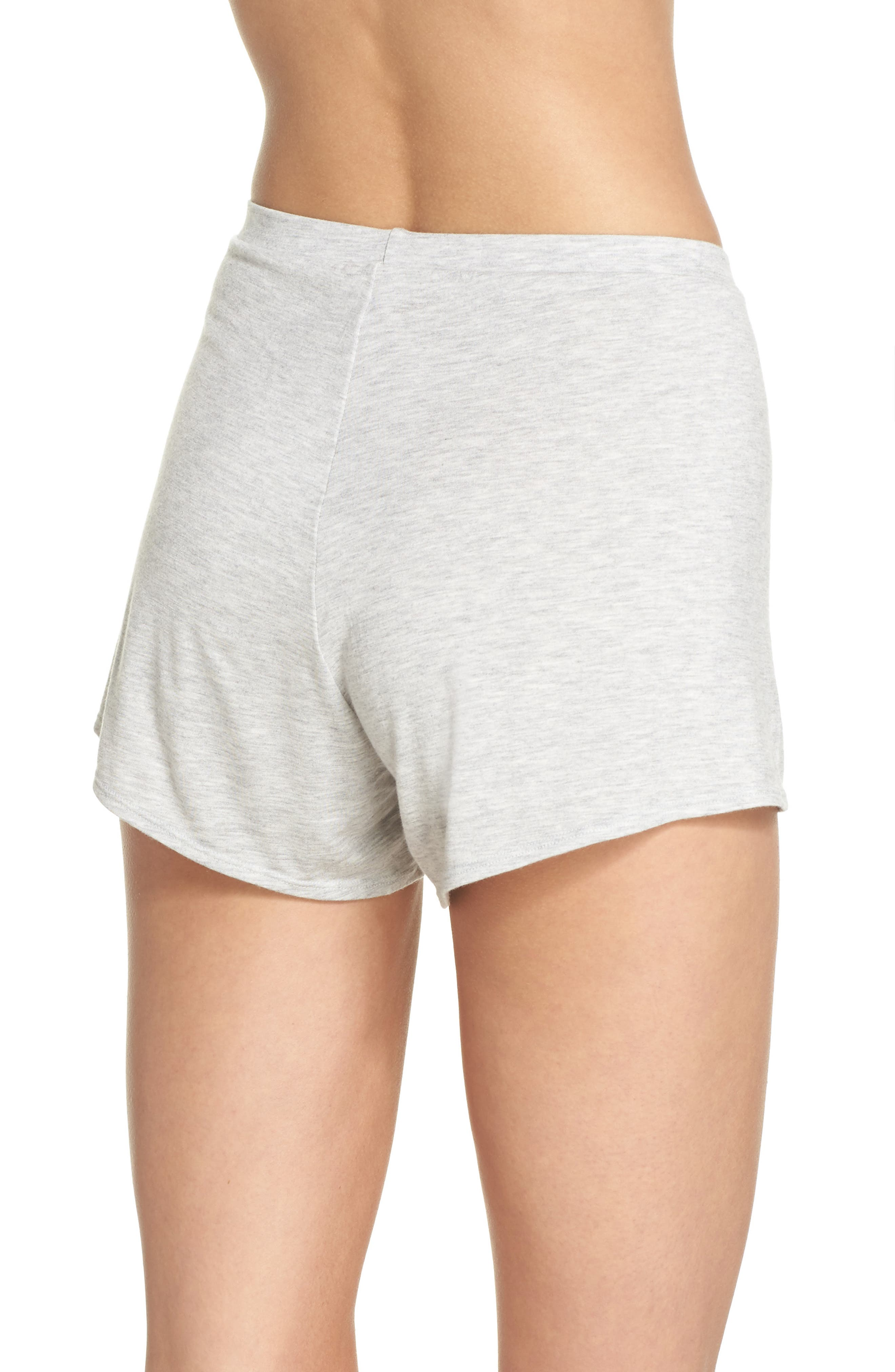 Undressed Pajama Shorts,                             Alternate thumbnail 2, color,                             Silver